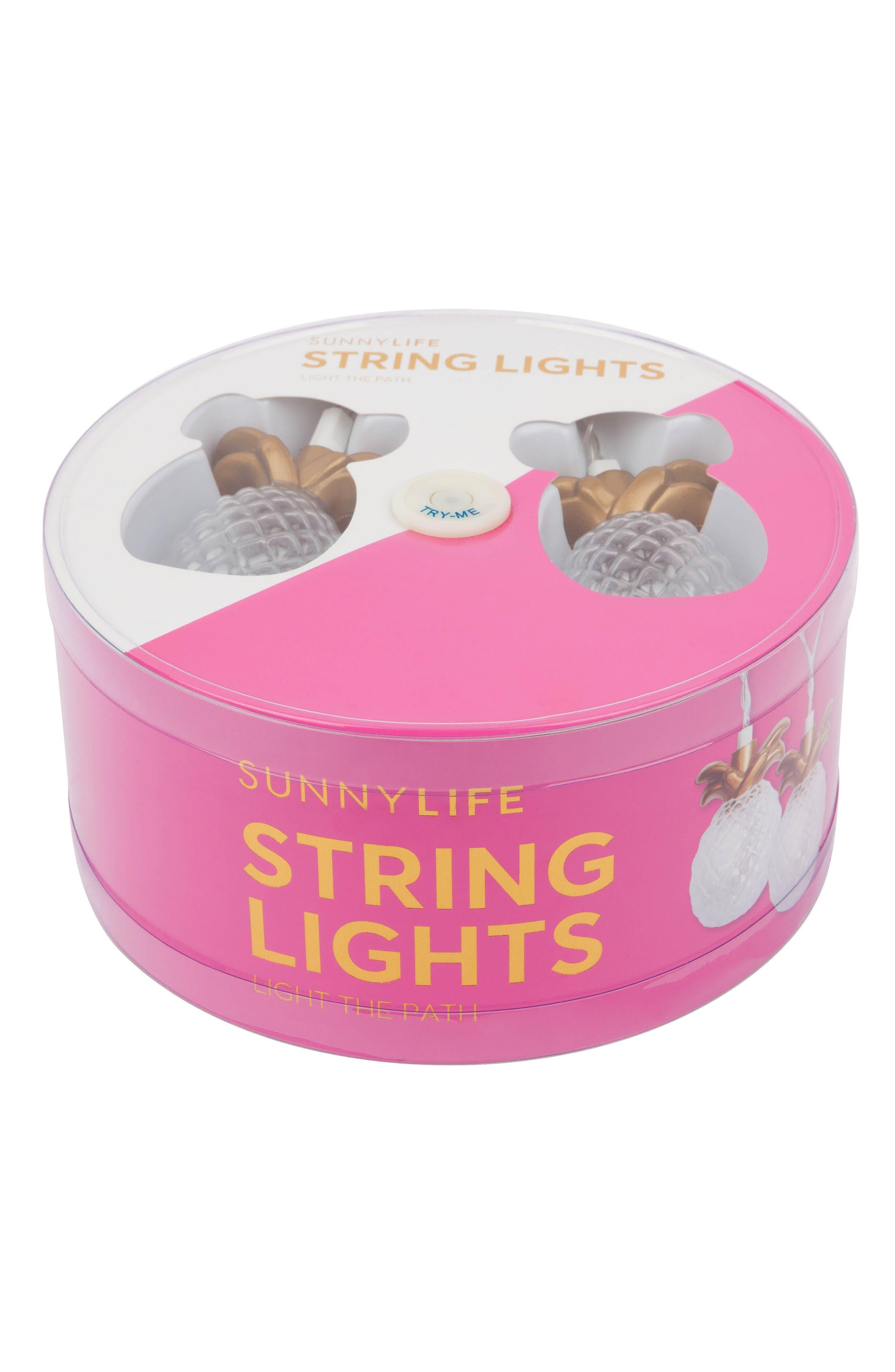 Sunnylife Gold Pineapple String Lights