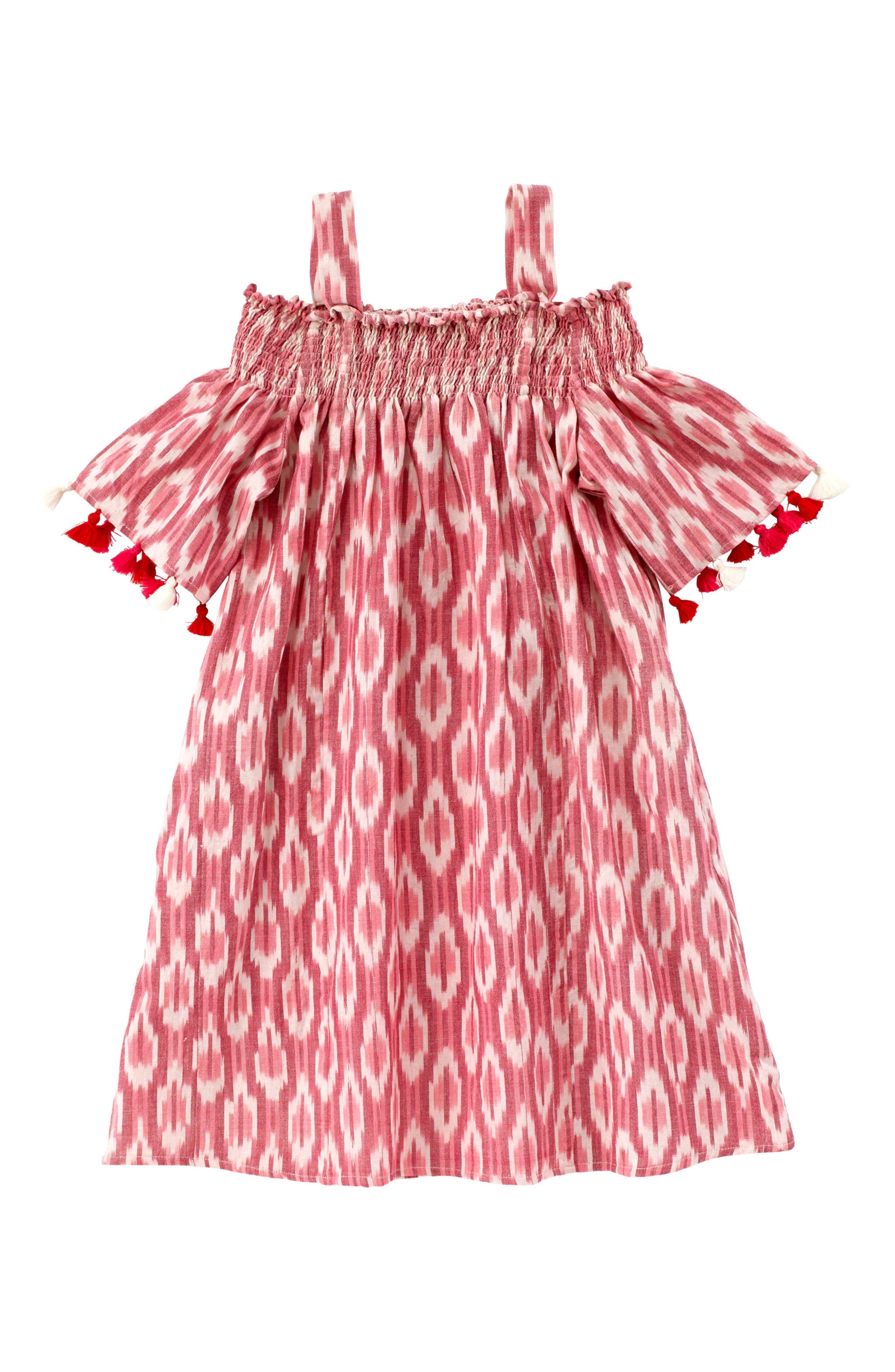 Alternate Image 1 Selected - Masala Baby Rohi Ikat Print Dress (Toddler Girls, Little Girls & Big Girls)