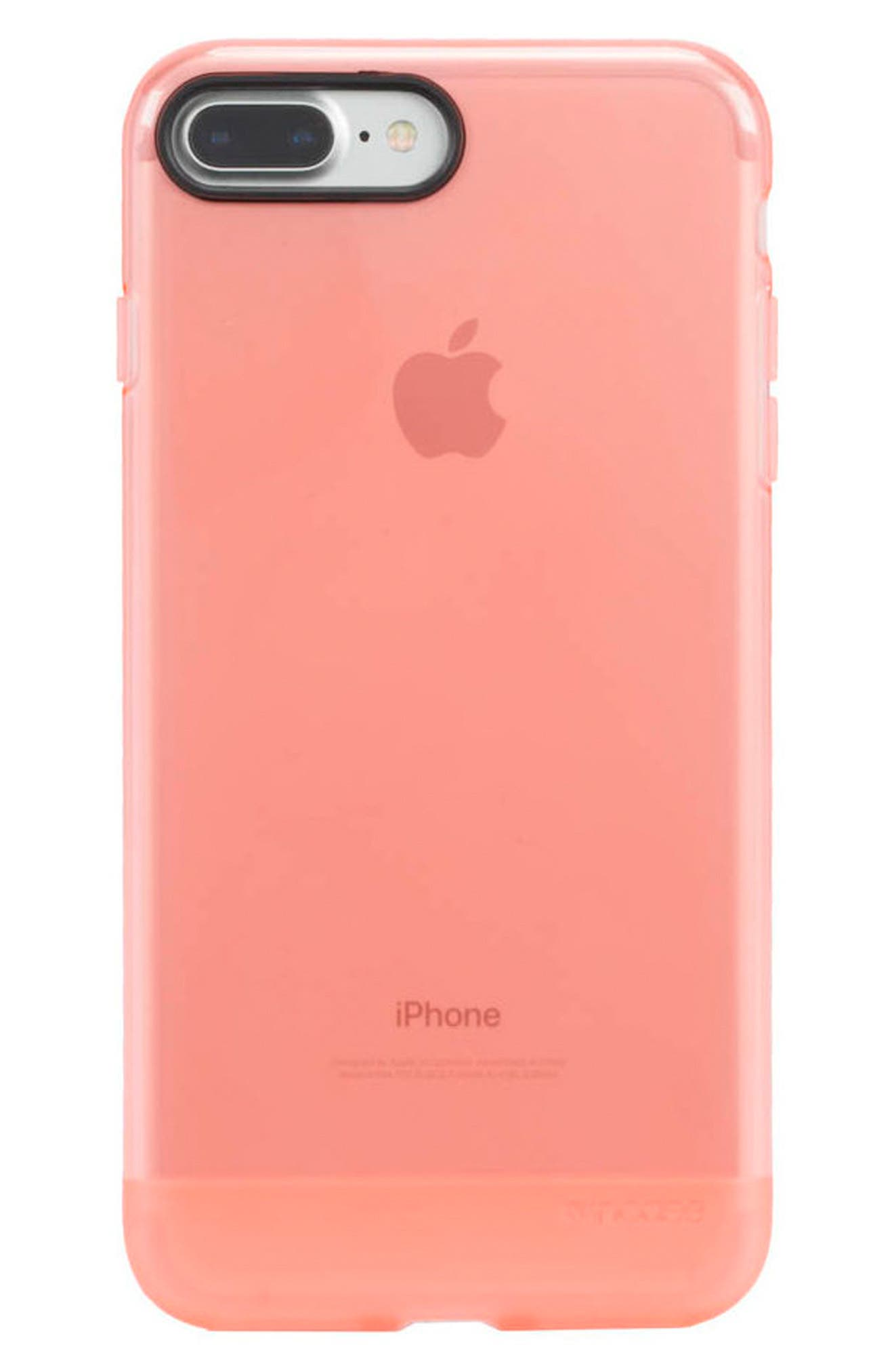 iPhone 7 Plus/8 Plus Case,                             Main thumbnail 1, color,                             Coral