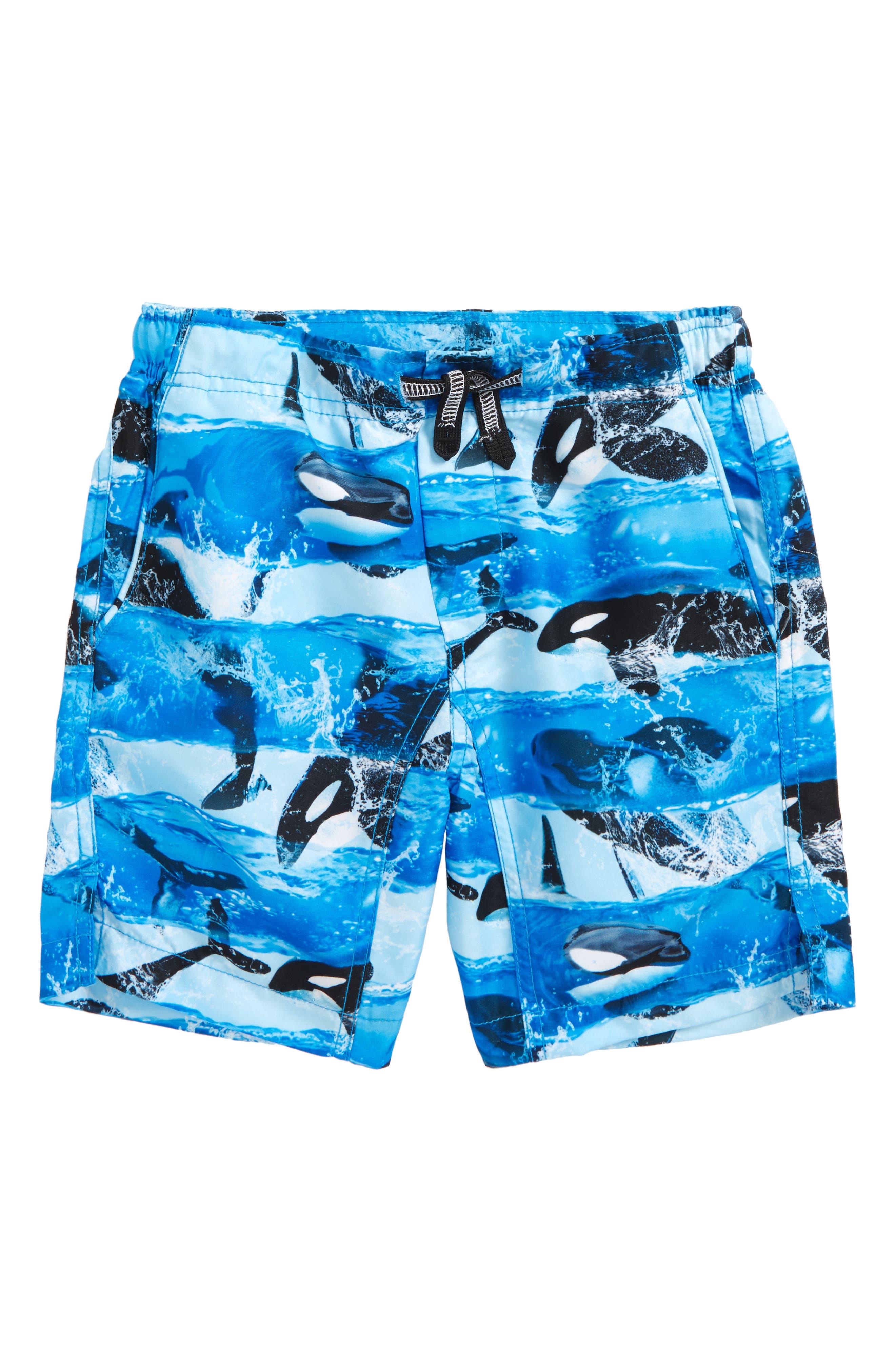 Nario Swim Trunks,                             Main thumbnail 1, color,                             Killer Whale