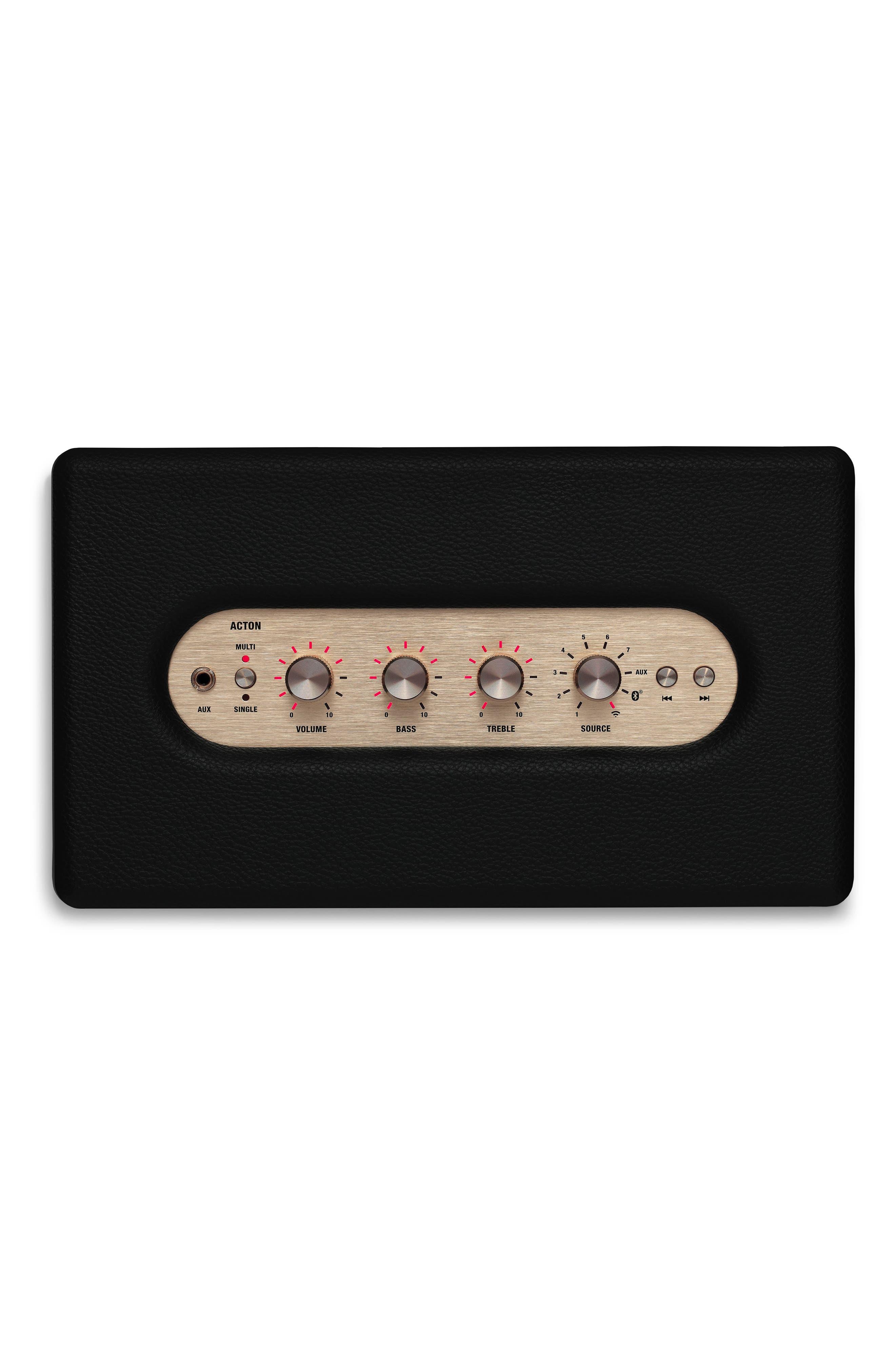 Acton Multi Room WiFi & Bluetooth Speaker,                             Alternate thumbnail 2, color,                             Black
