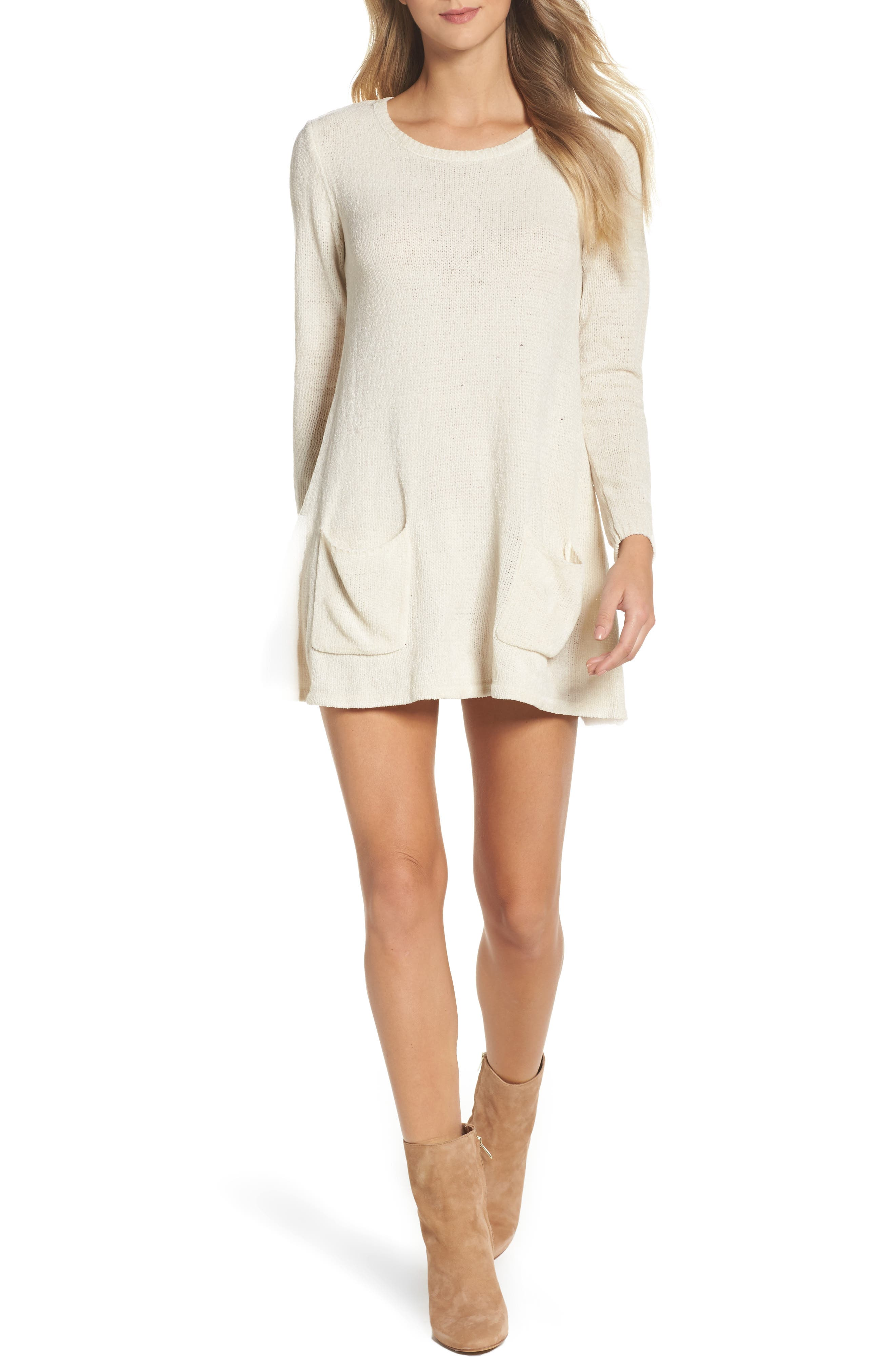 Beverly Sweater Dress,                         Main,                         color, Oatmeal