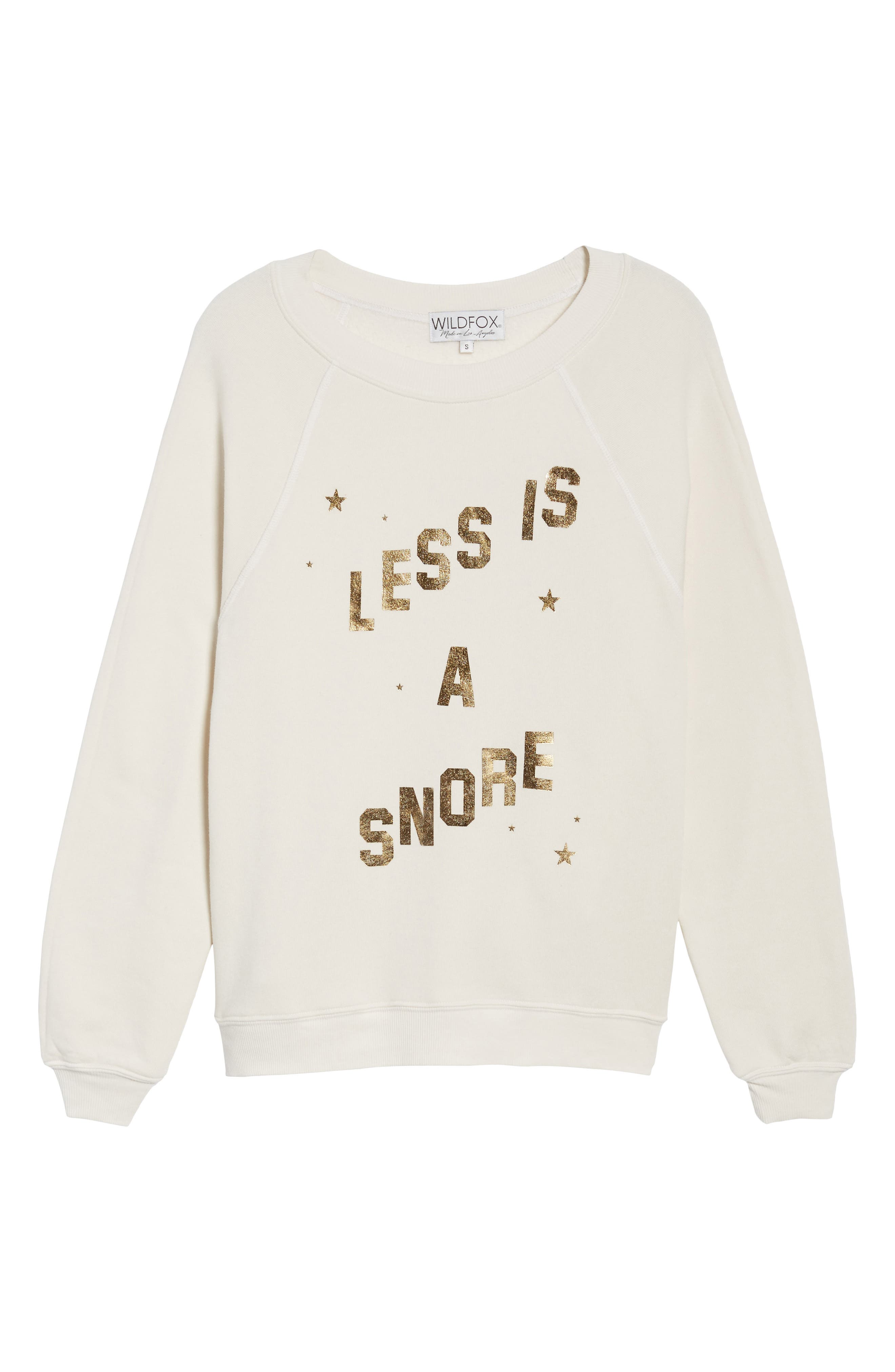 Alternate Image 6  - Wildfox Less Is a Snore Sweatshirt