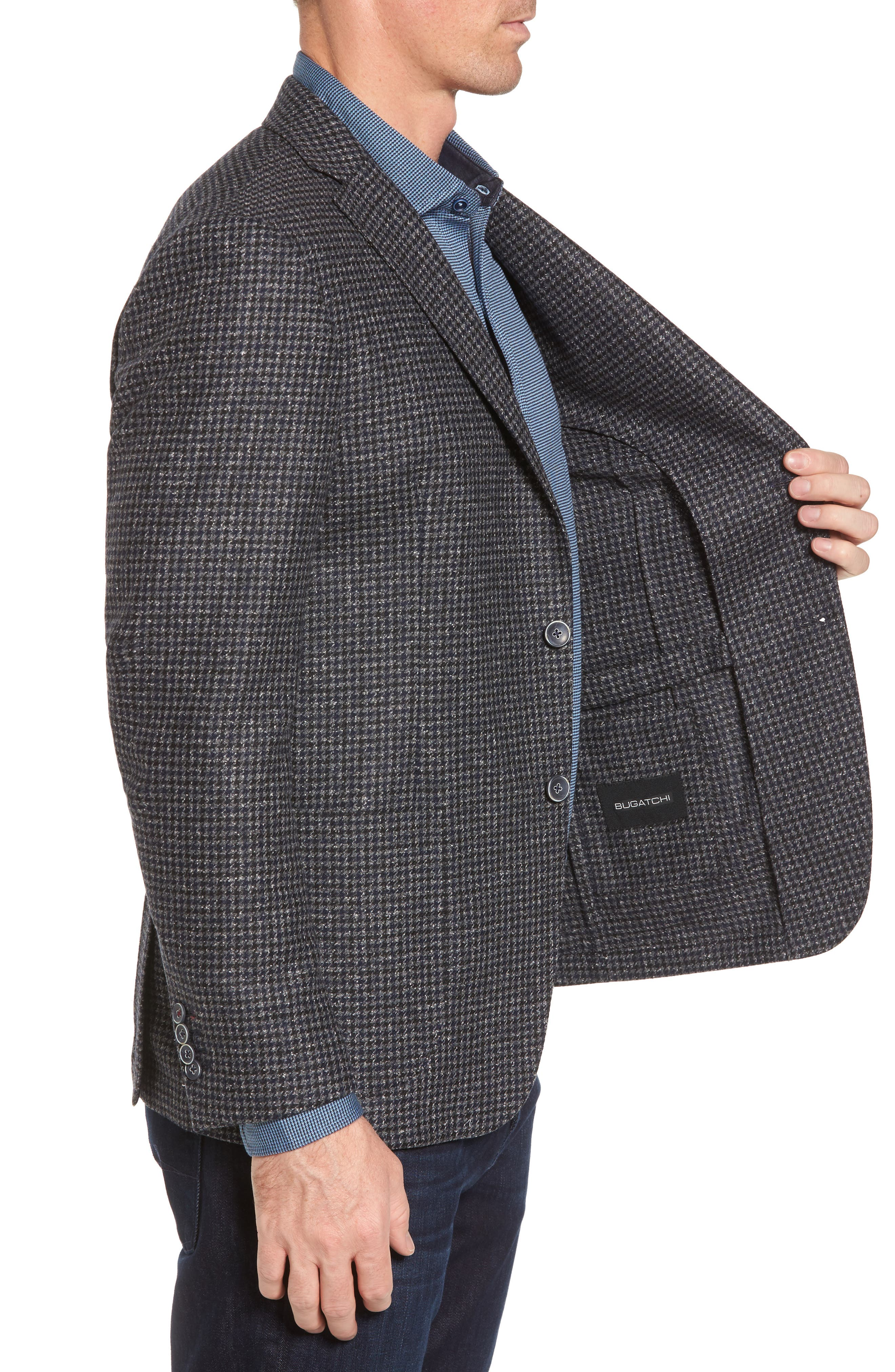 Alternate Image 3  - Bugatchi Wool Blend Houndstooth Blazer