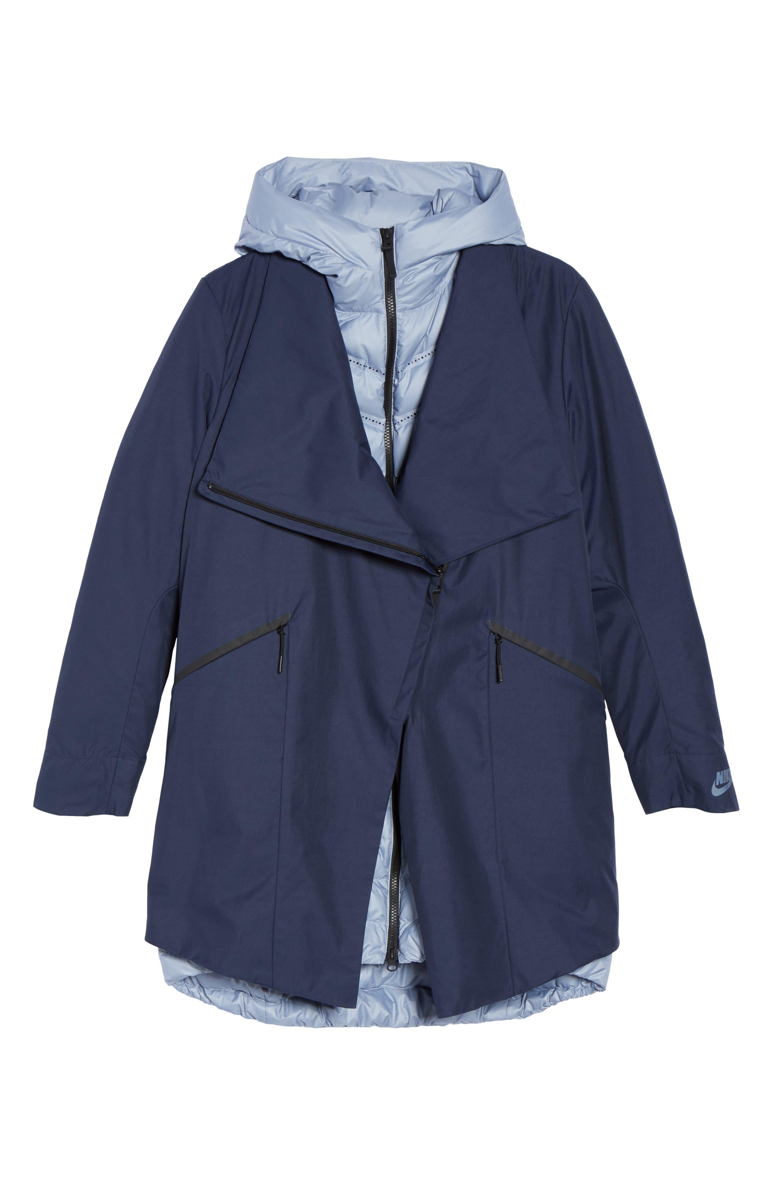 Sportswear Women's AeroLoft 3-in-1 Down Fill Parka,                             Alternate thumbnail 9, color,                             Obsidian/ Glacier Grey/ Black