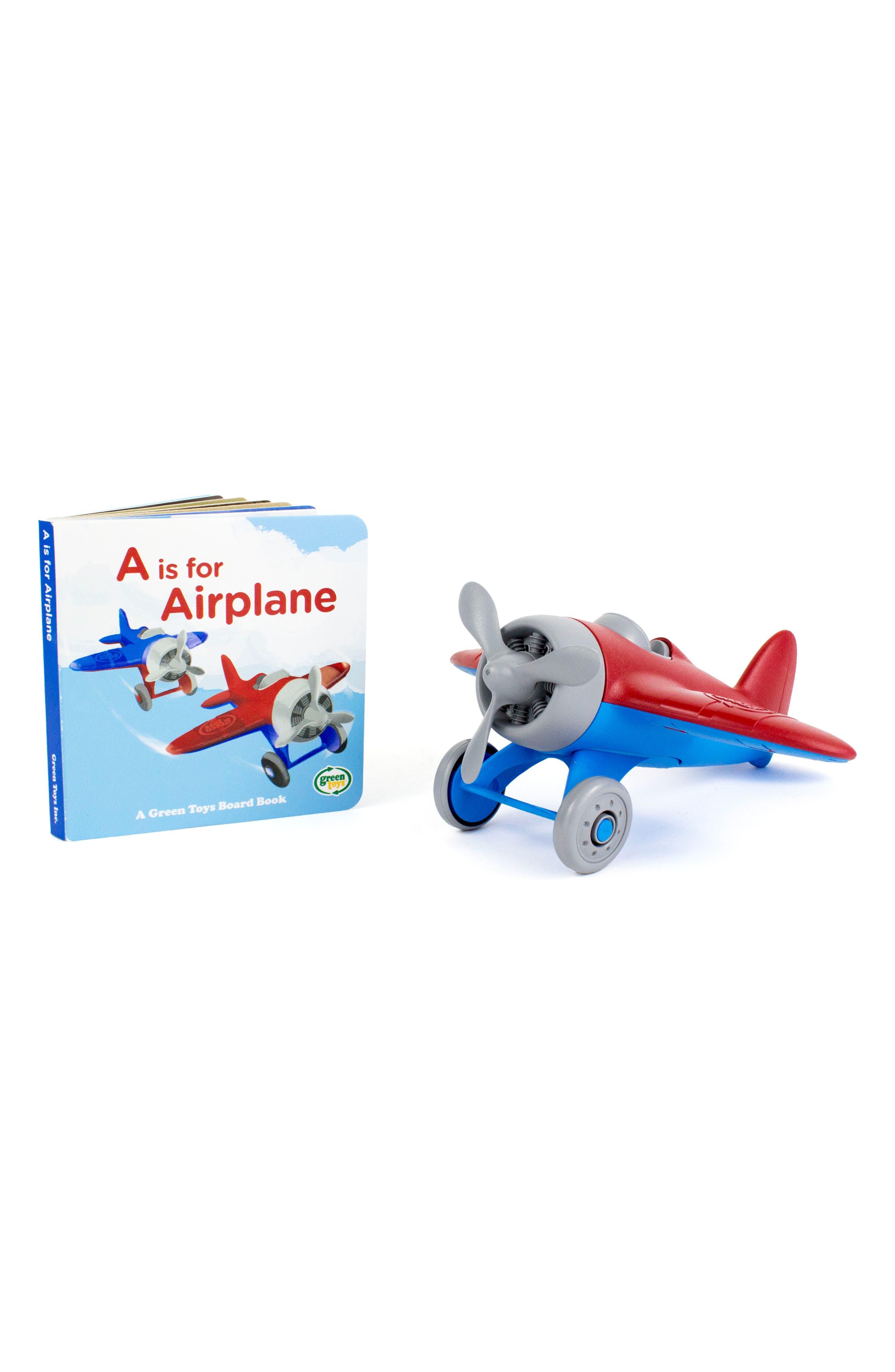 Green Toys Airplane Toy & Alphabet Book Set