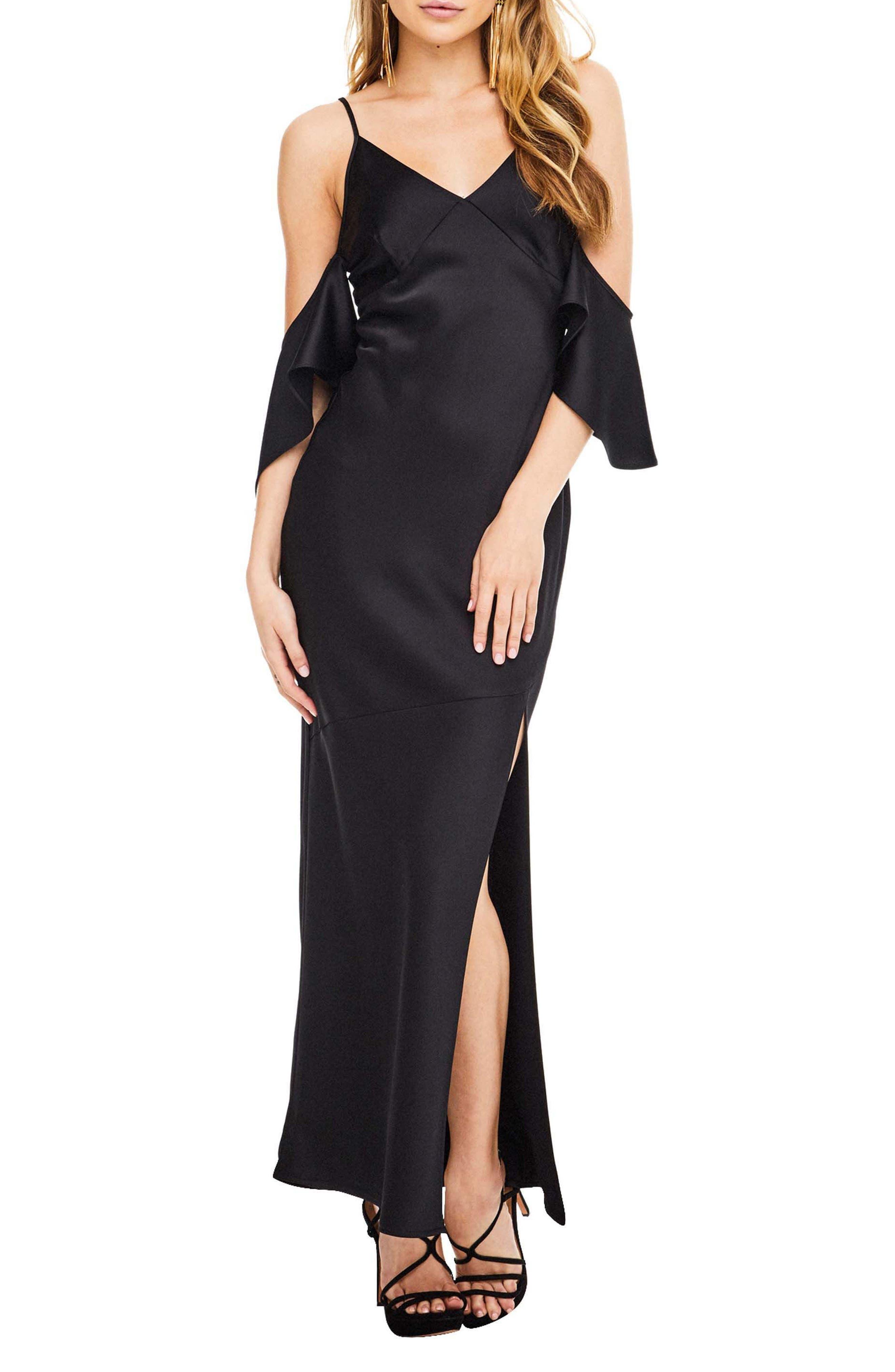 Kendra Maxi Dress,                         Main,                         color, Black