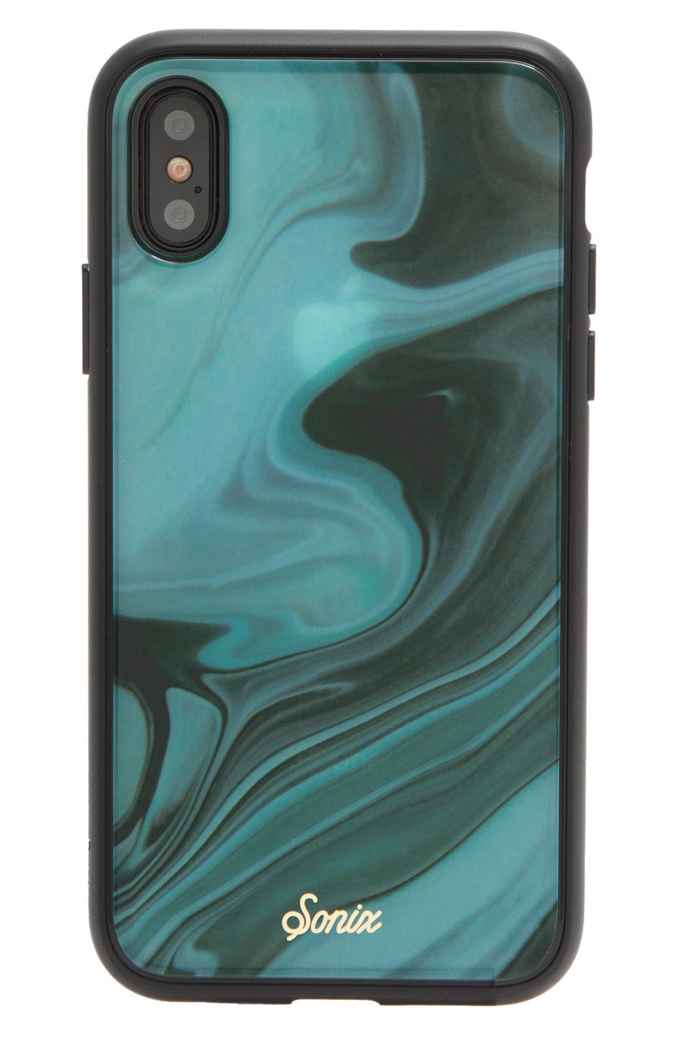 Jade Print iPhone X Case,                             Alternate thumbnail 2, color,                             Green