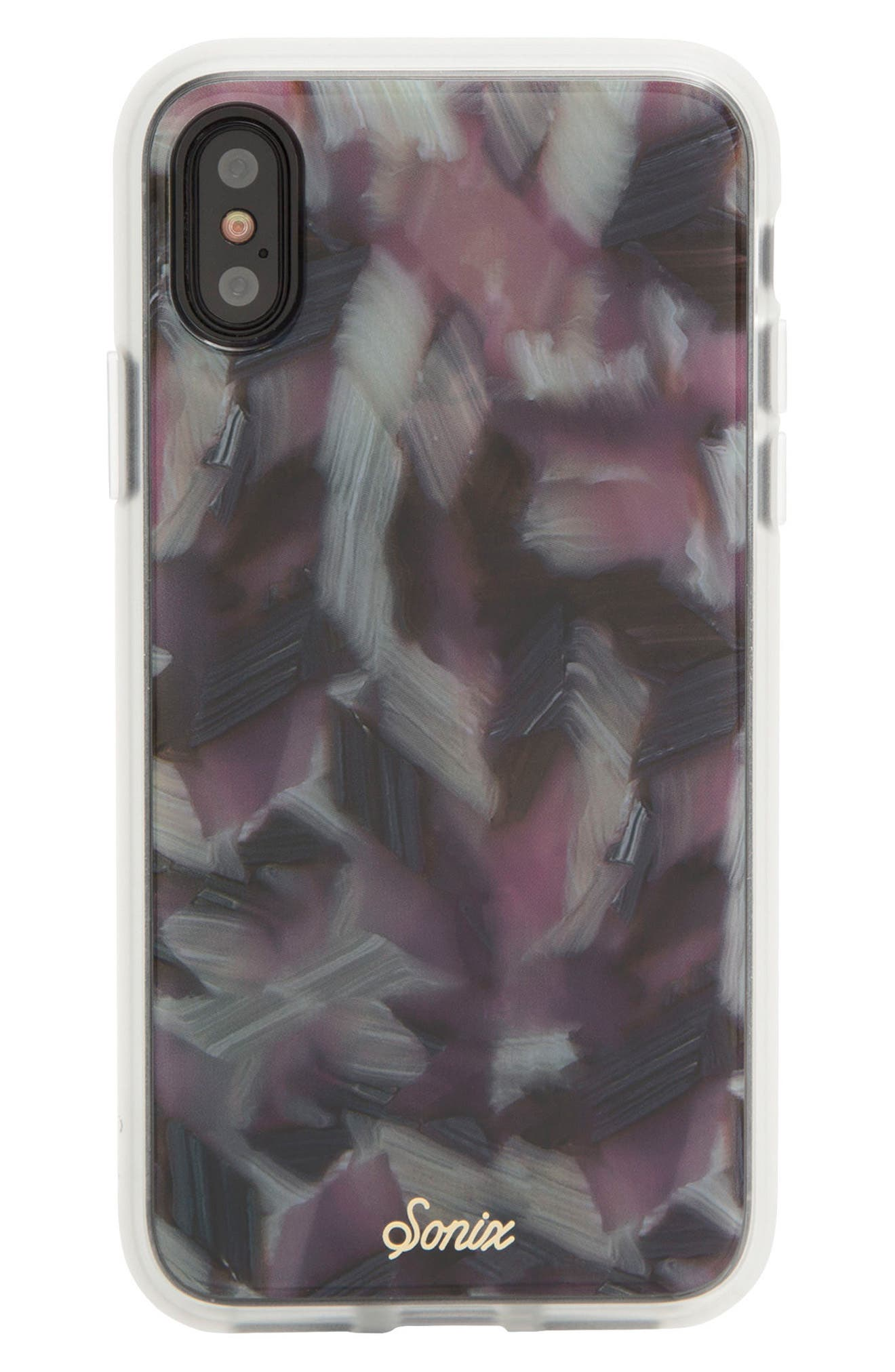 Tortoise Print iPhone X Case,                             Alternate thumbnail 2, color,                             Pink Tort