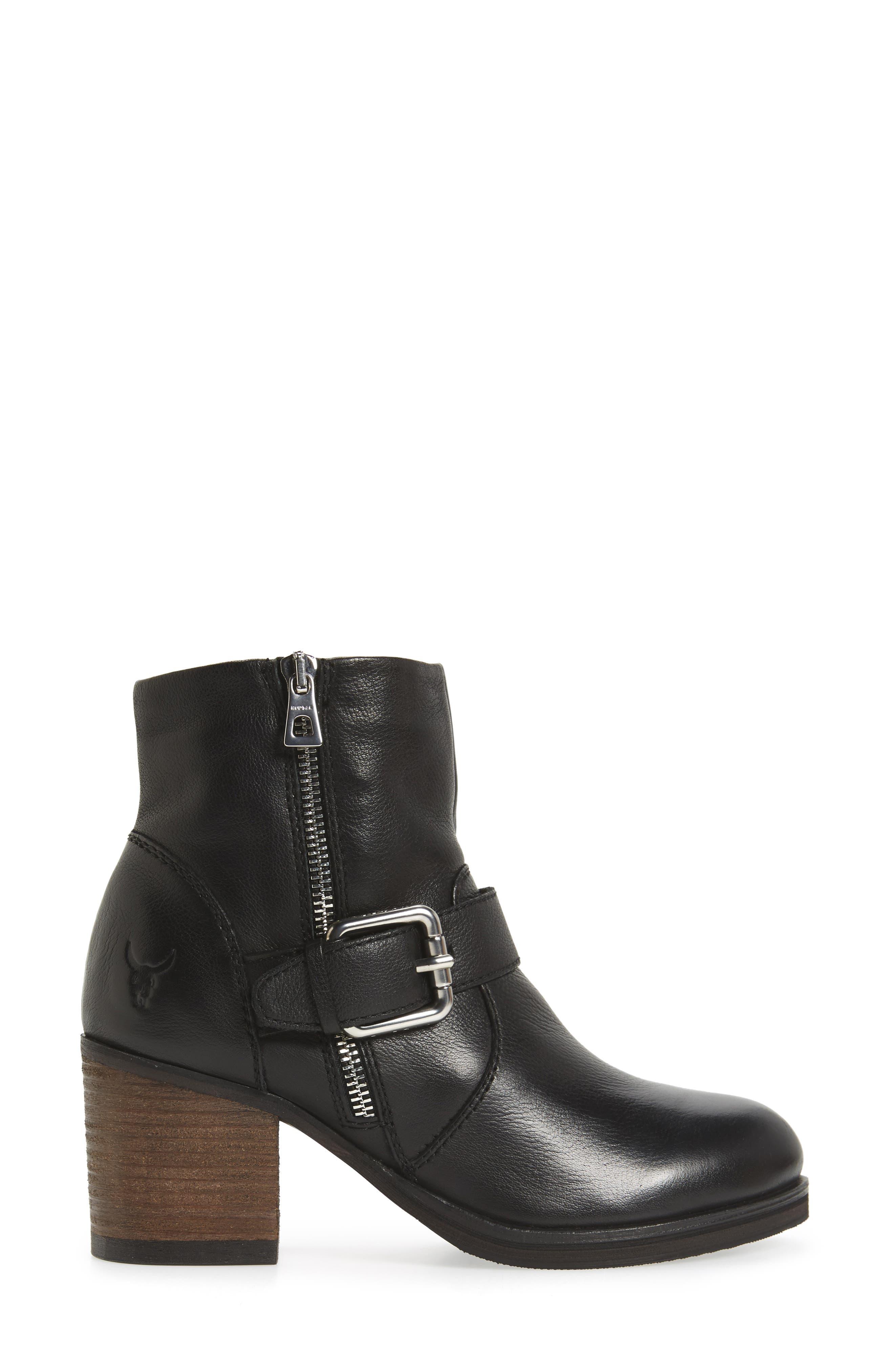 Balady Boot,                             Alternate thumbnail 3, color,                             Black/ Black Leather