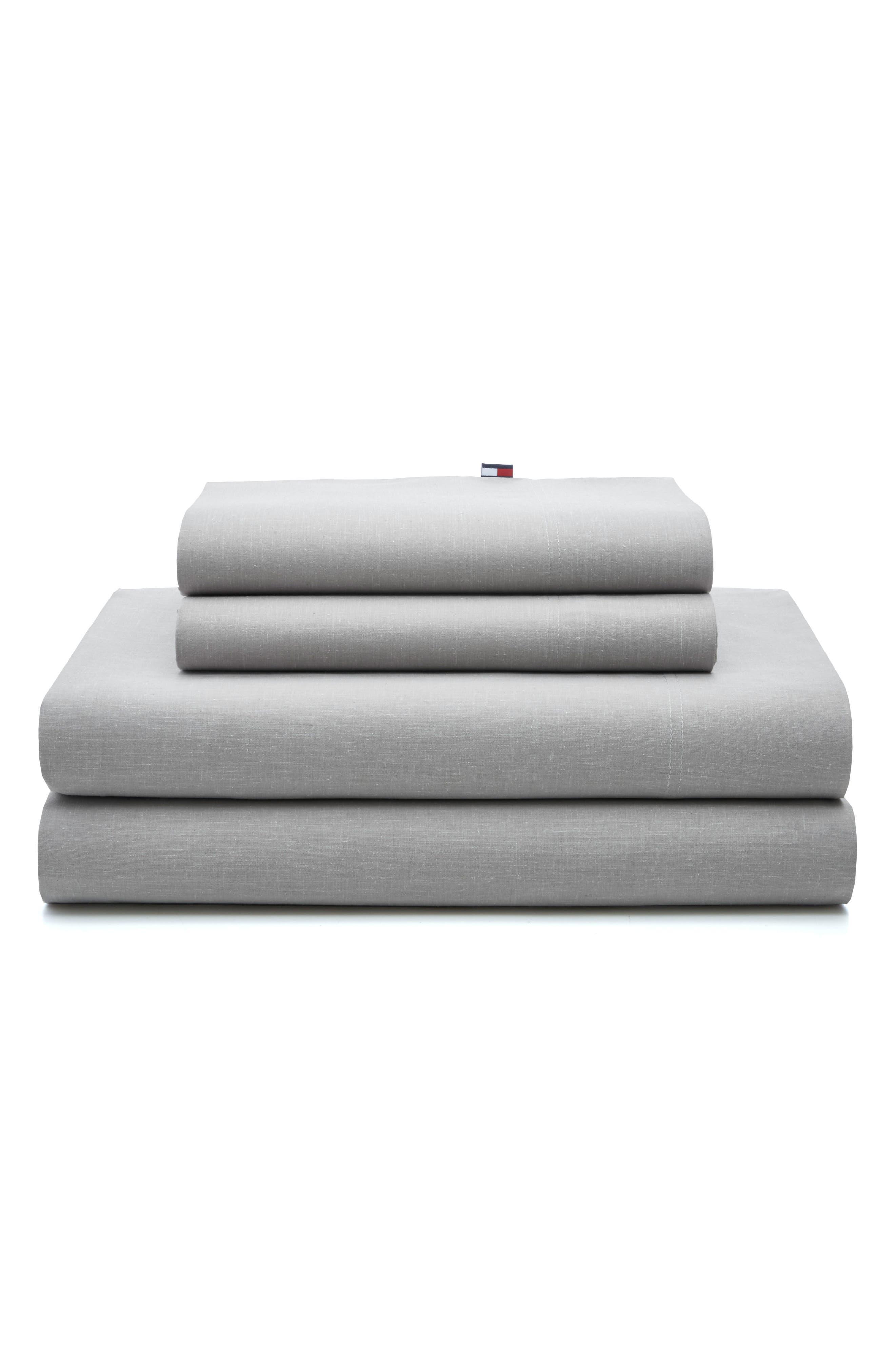 Chambray Pillowcases,                             Main thumbnail 1, color,                             Light Grey