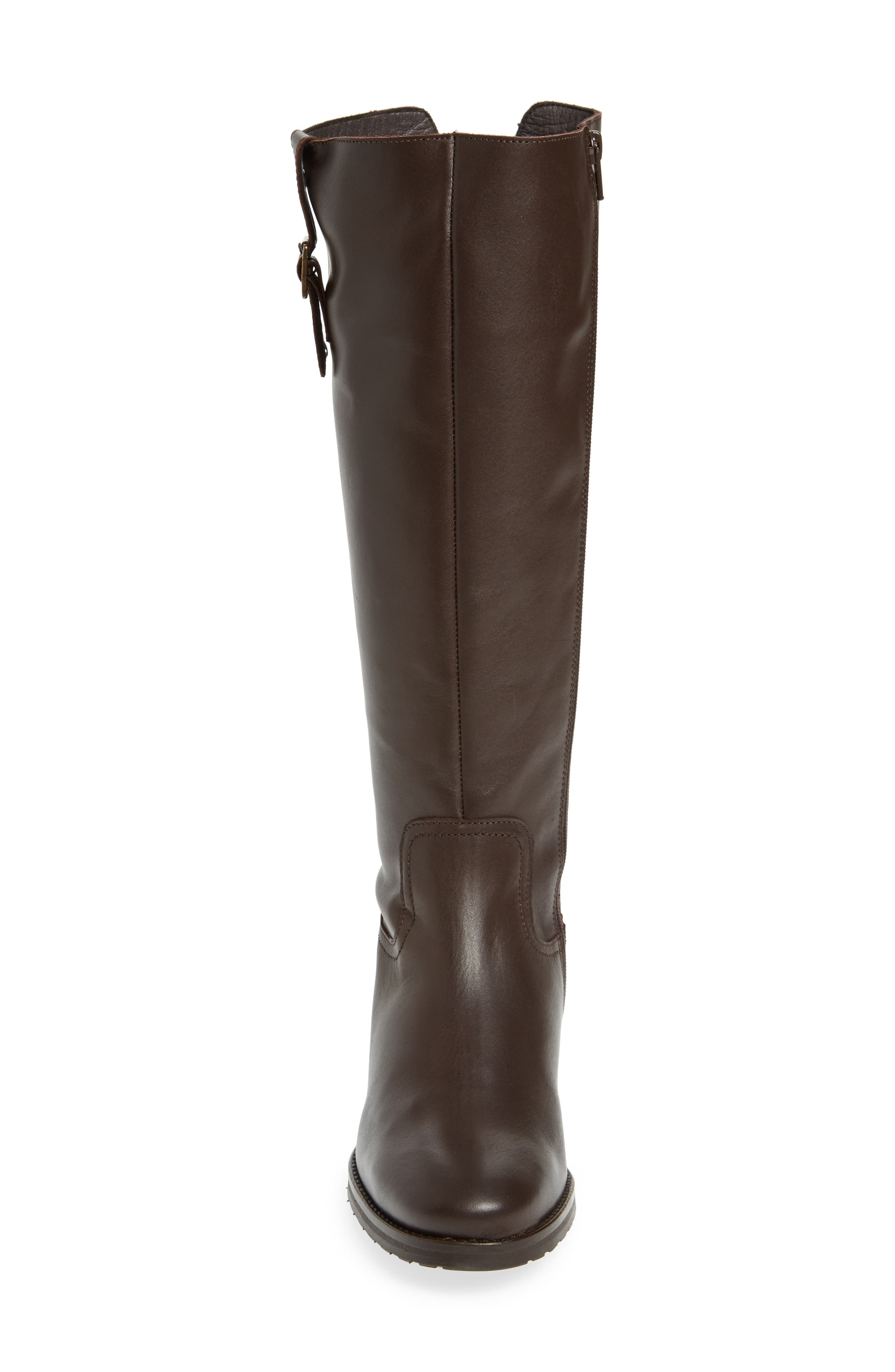 Anson Waterproof Boot,                             Alternate thumbnail 4, color,                             Brown Leather
