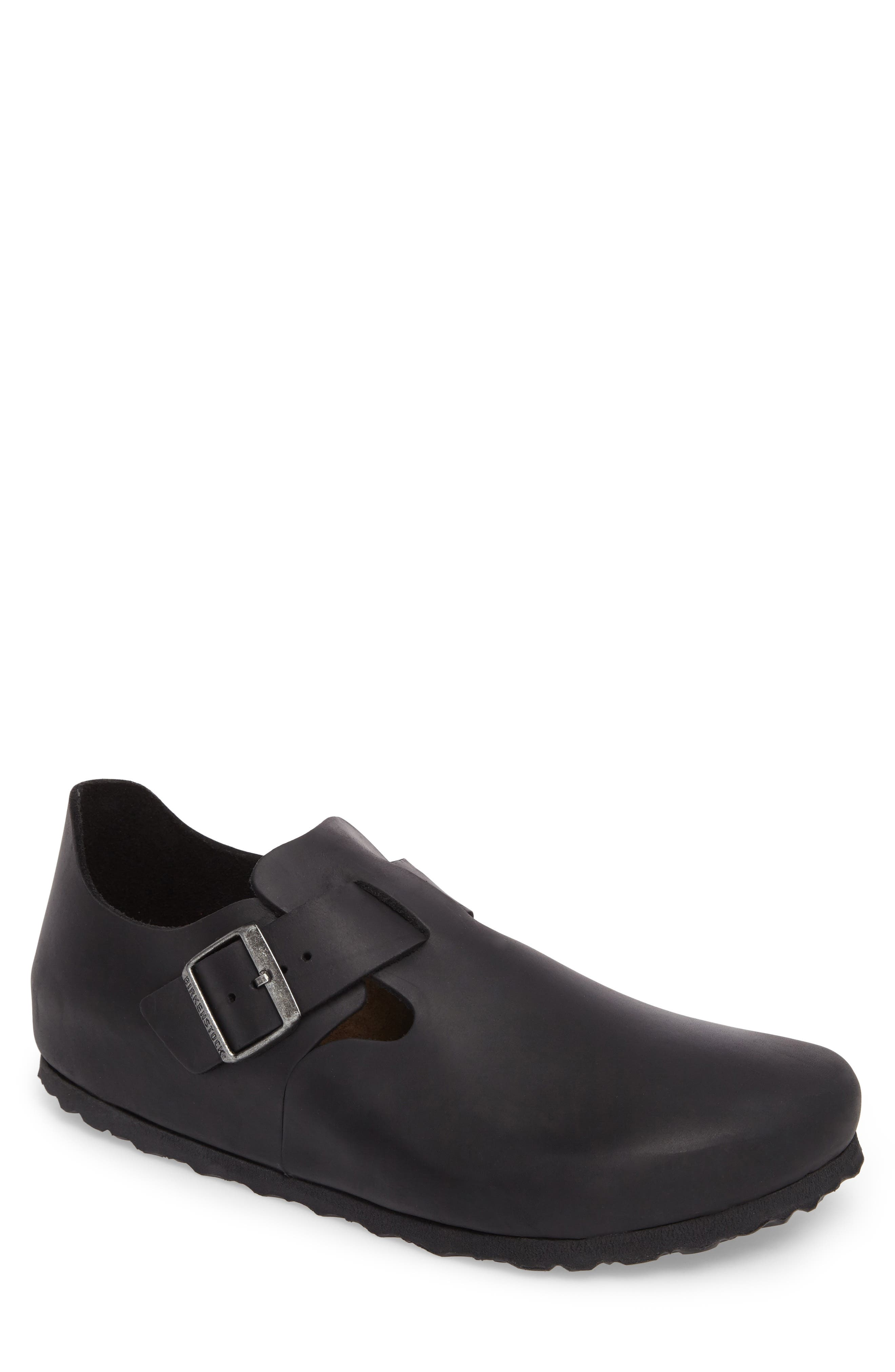 'London' Slip-On,                             Main thumbnail 1, color,                             Black Leather