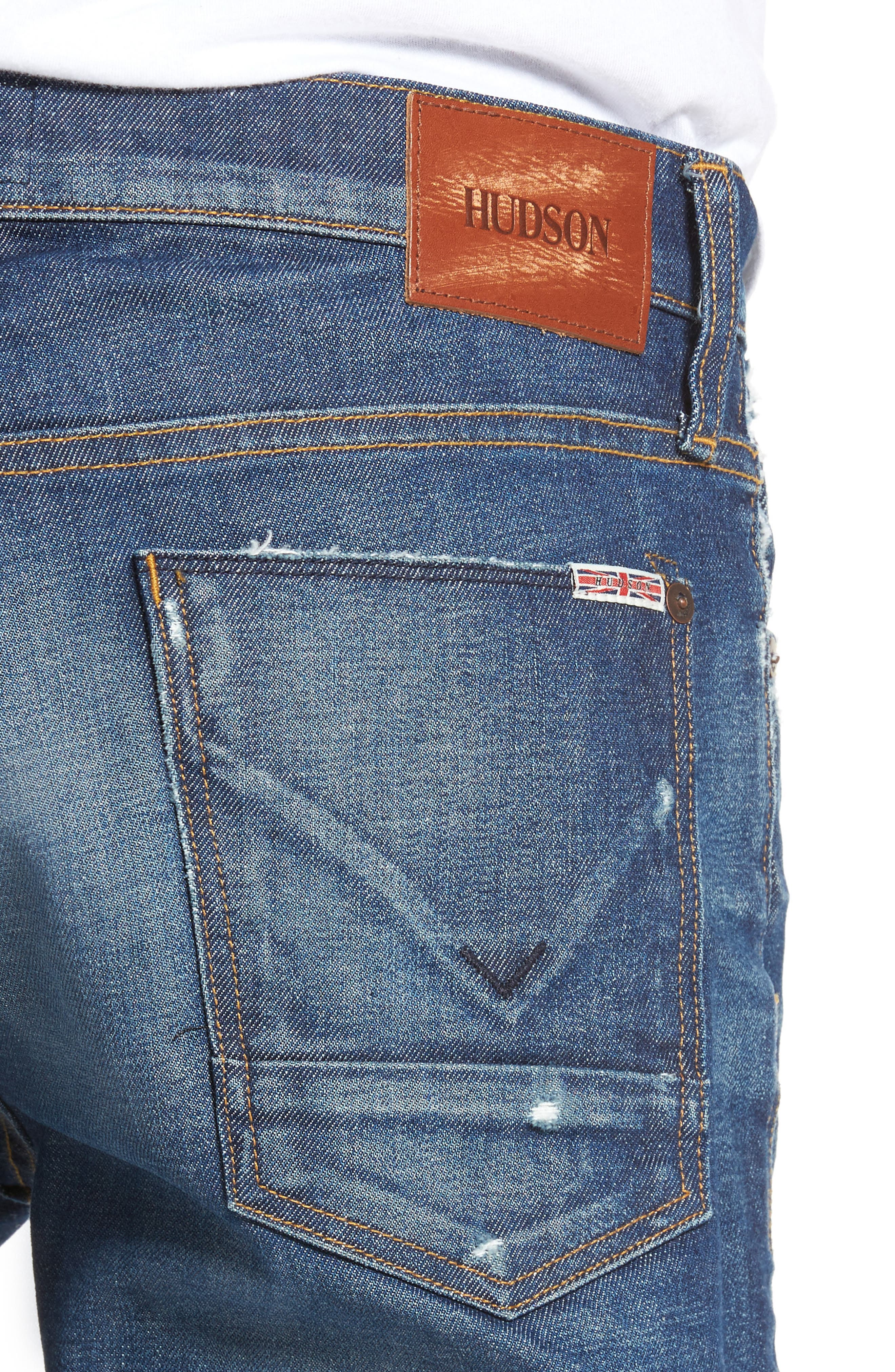 Alternate Image 4  - Hudson Jeans Axl Skinny Fit Jeans (Falling Down)