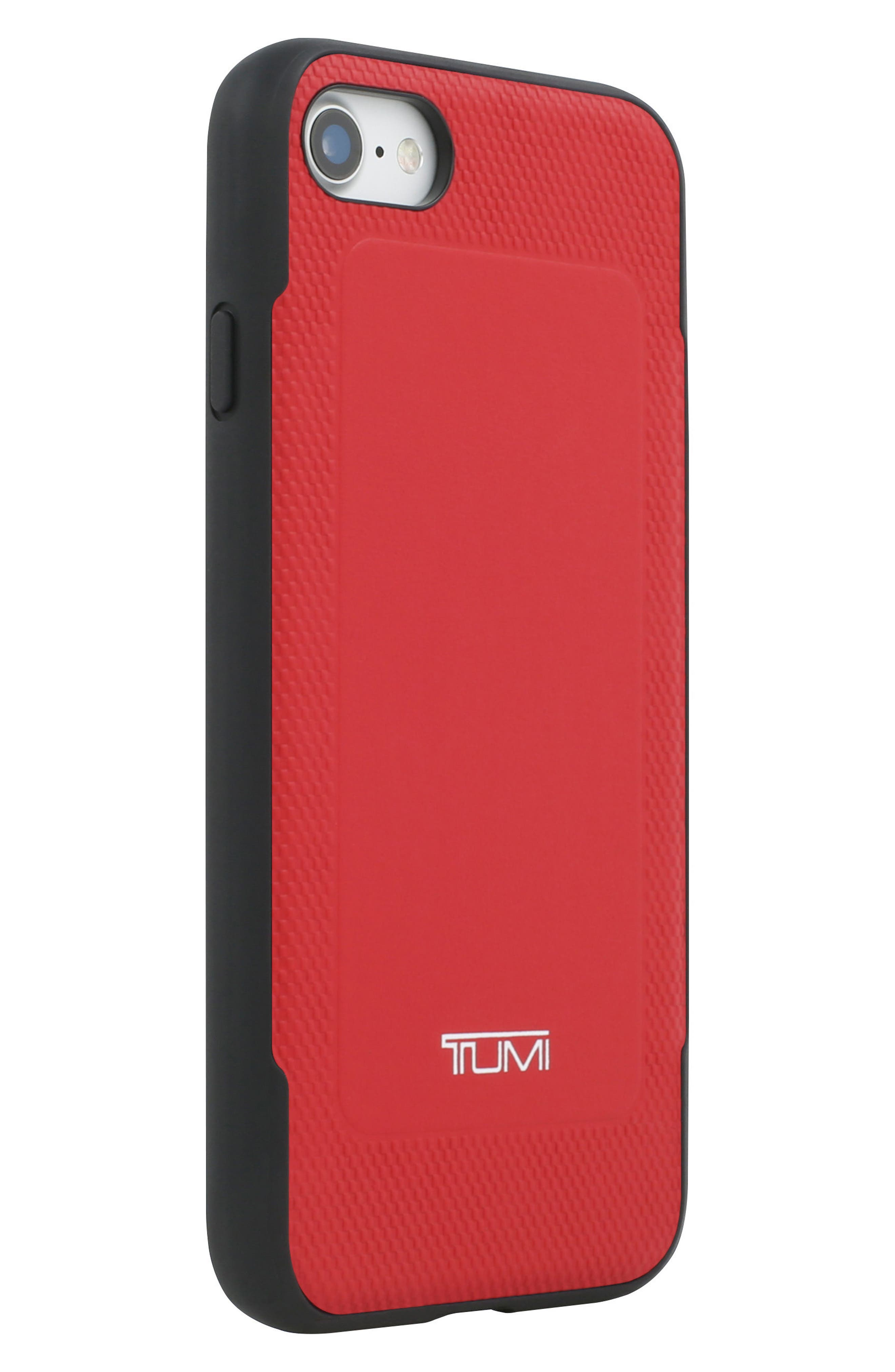 Leather iPhone 8 Case,                             Alternate thumbnail 3, color,                             Red
