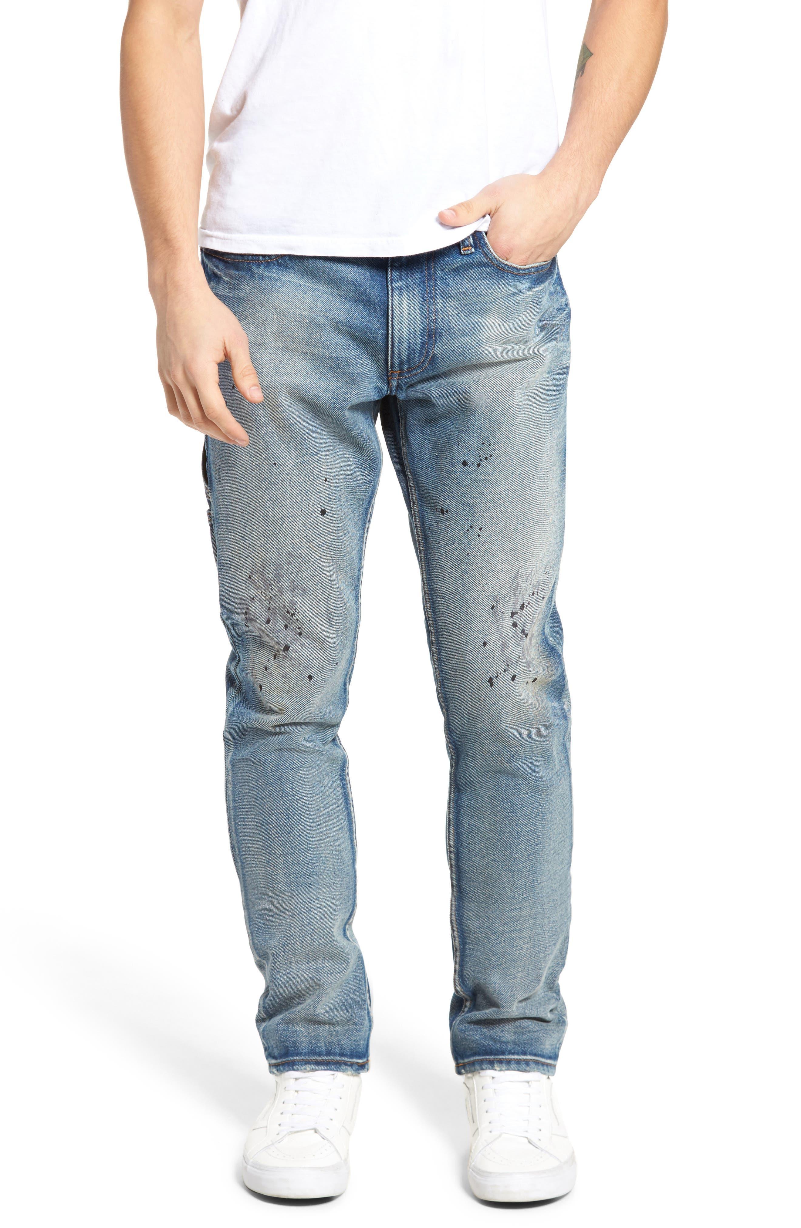 Alternate Image 1 Selected - Calvin Klein Jeans Carpenter Slim Fit Jeans (Garage Paint)