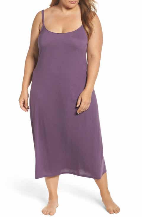 Natori 'Shangri La' Nightgown (Plus Size)
