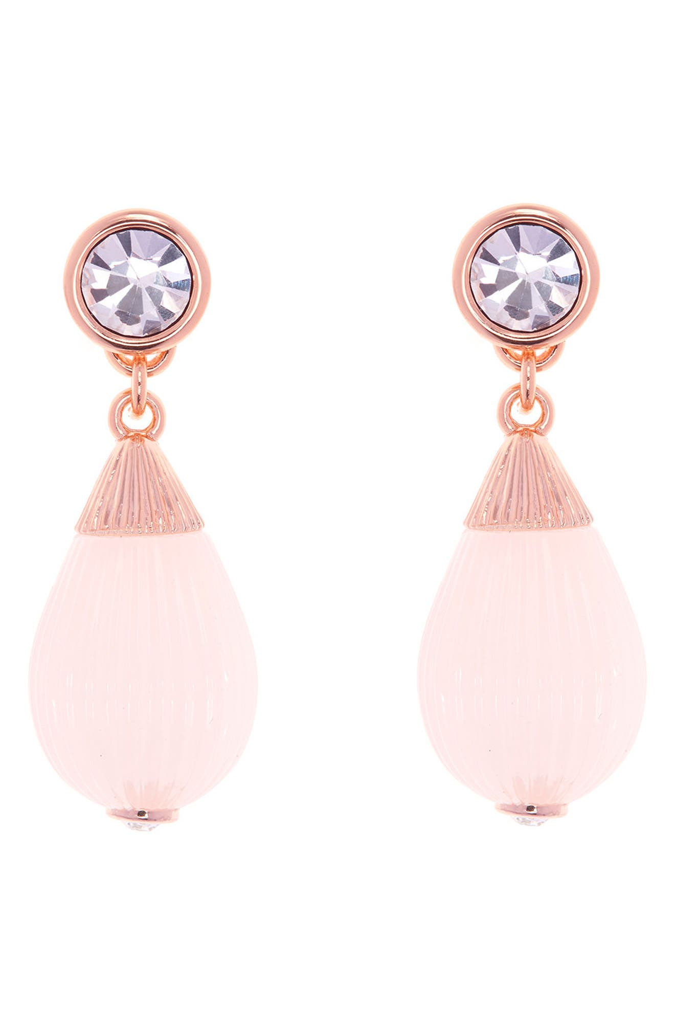 Alternate Image 1 Selected - Ted Baker London Mini Plissé Drop Earrings