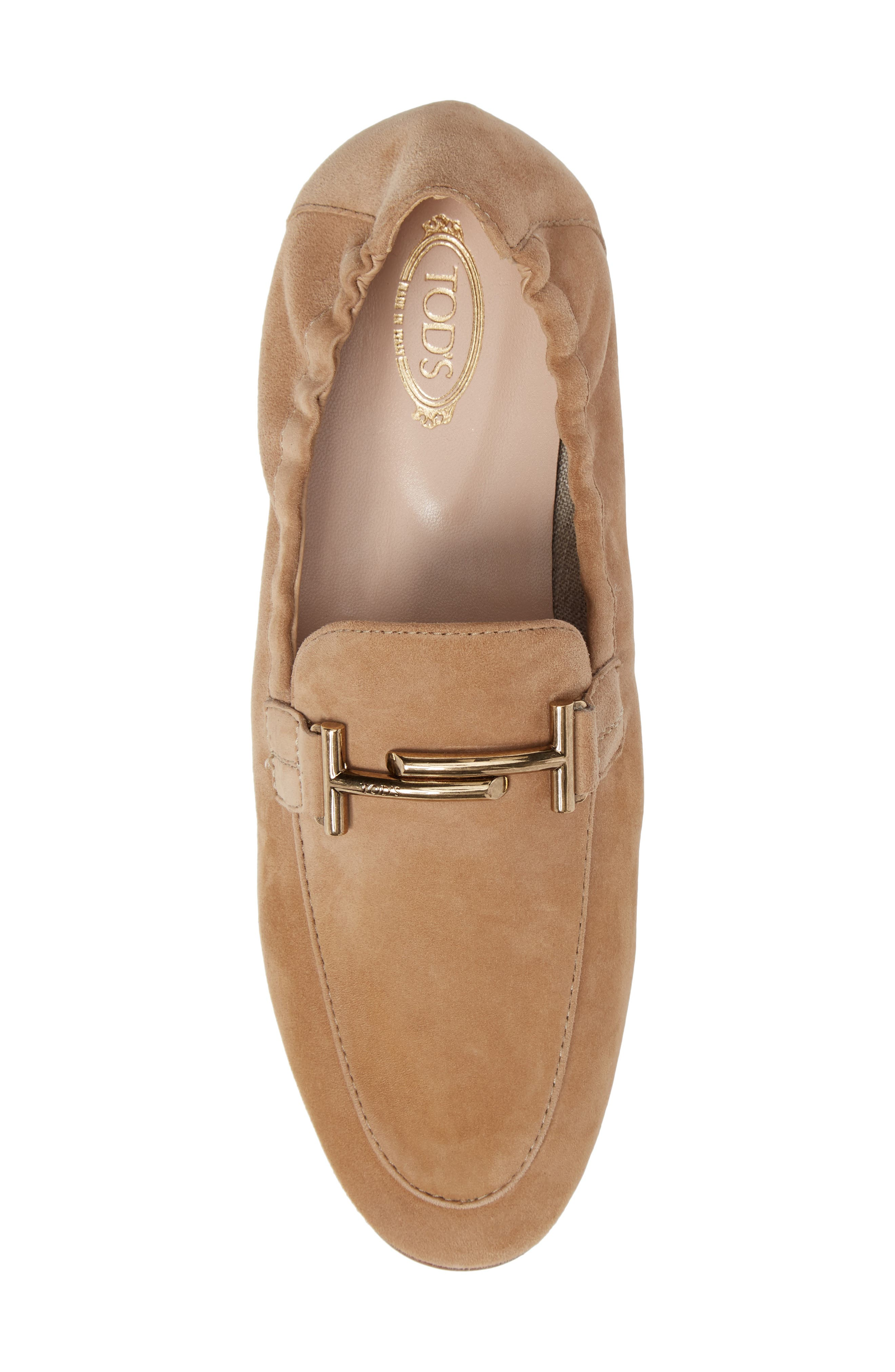 Double T Scrunch Loafer,                             Alternate thumbnail 5, color,                             Tan
