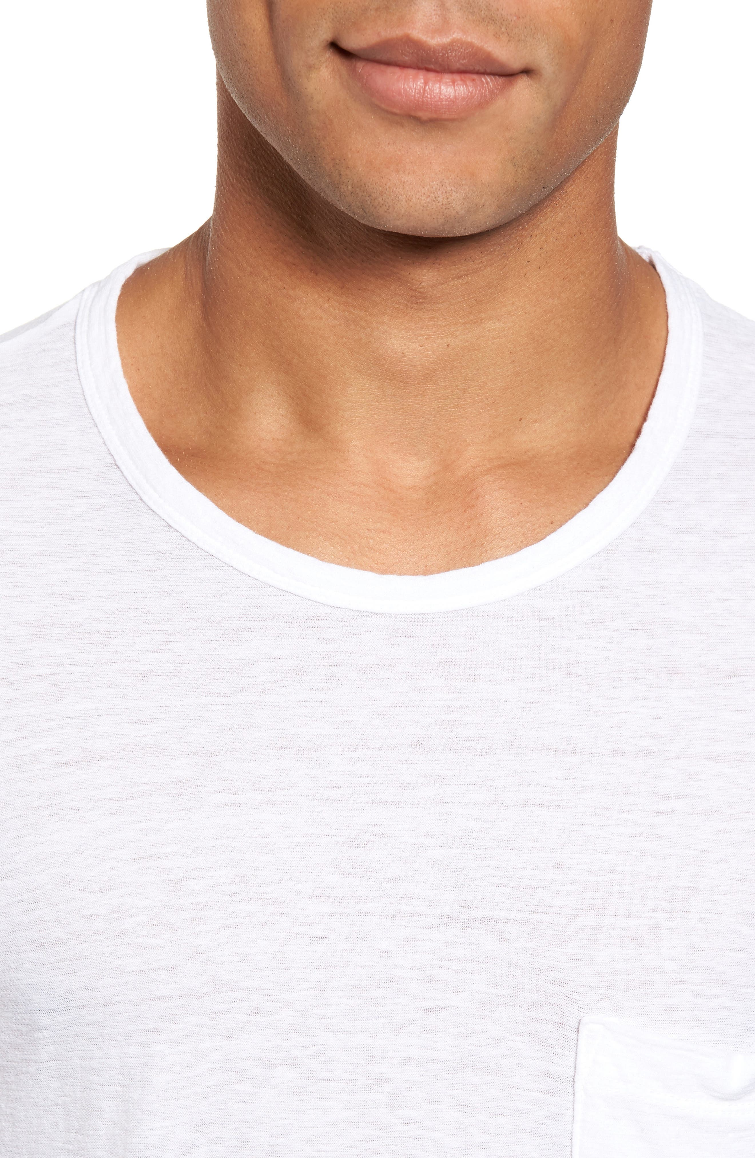 Alternate Image 4  - James Perse Cotton & Linen Pocket T-Shirt