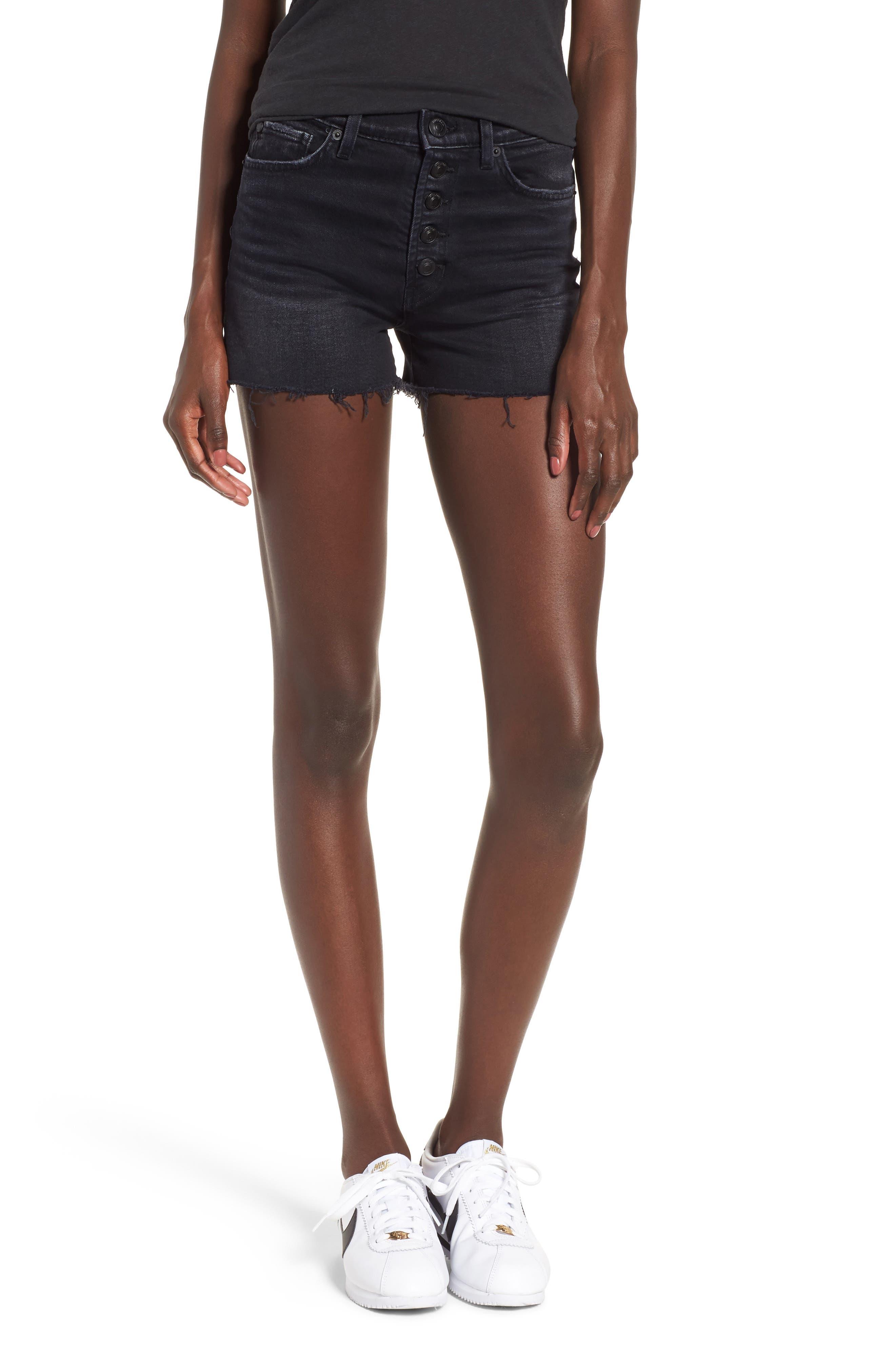 Zoeey High Waist Cutoff Shorts,                         Main,                         color, Teenage Riot