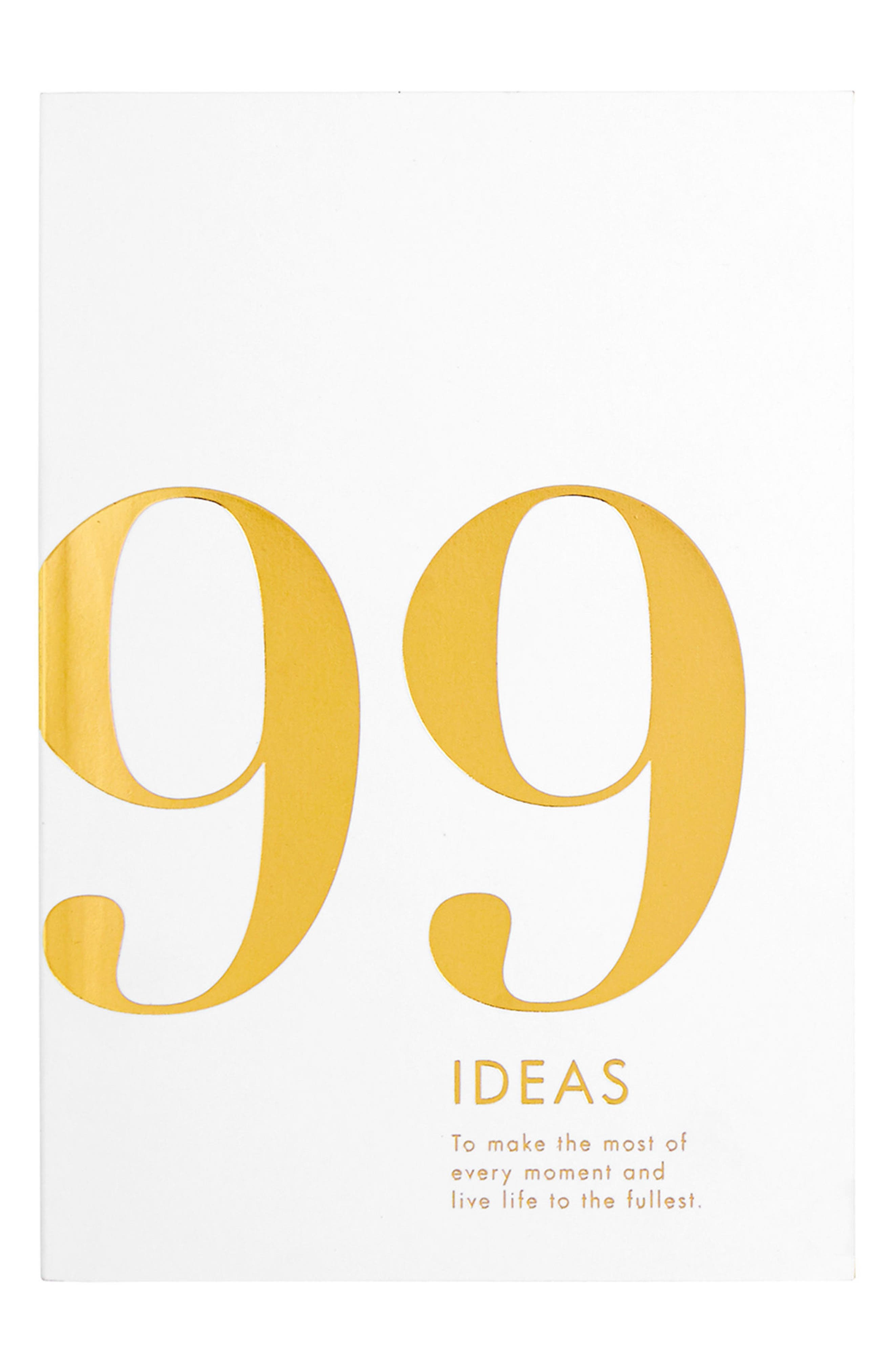 'Time is Now 99 Ideas' Book,                             Main thumbnail 1, color,                             White/ Gold