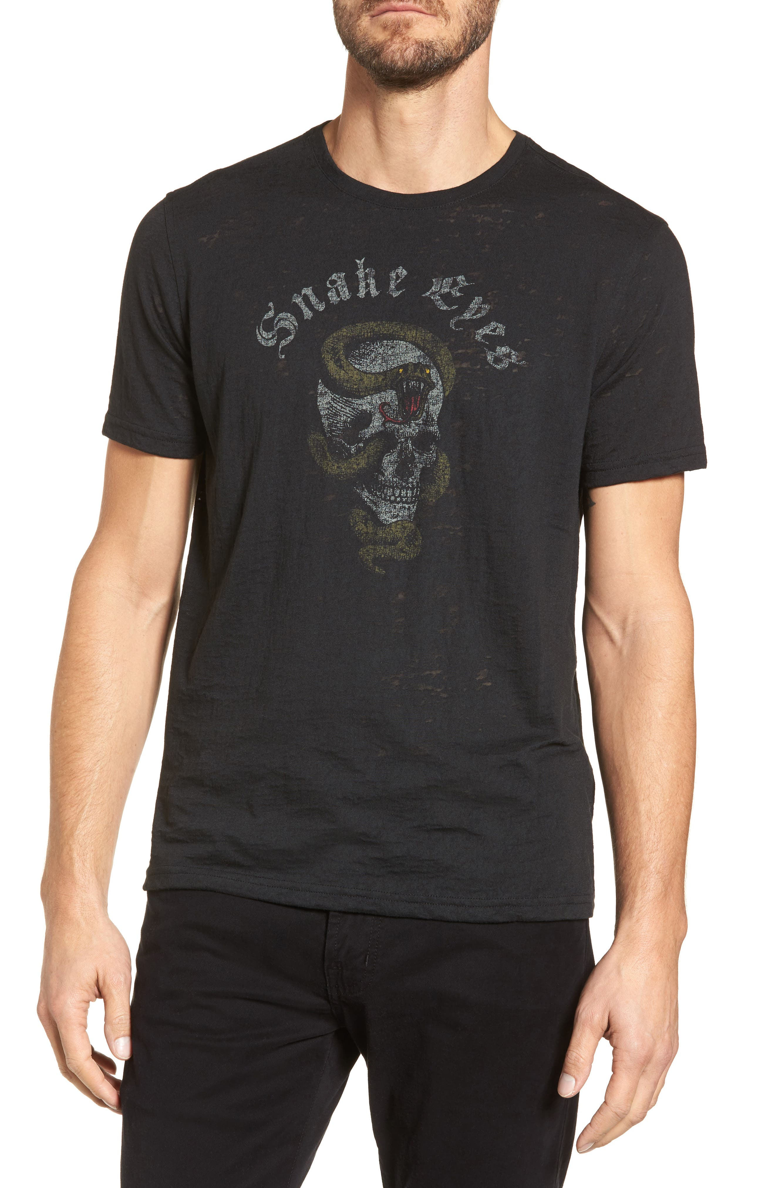 Snake Eyes Graphic T-Shirt,                         Main,                         color, Black