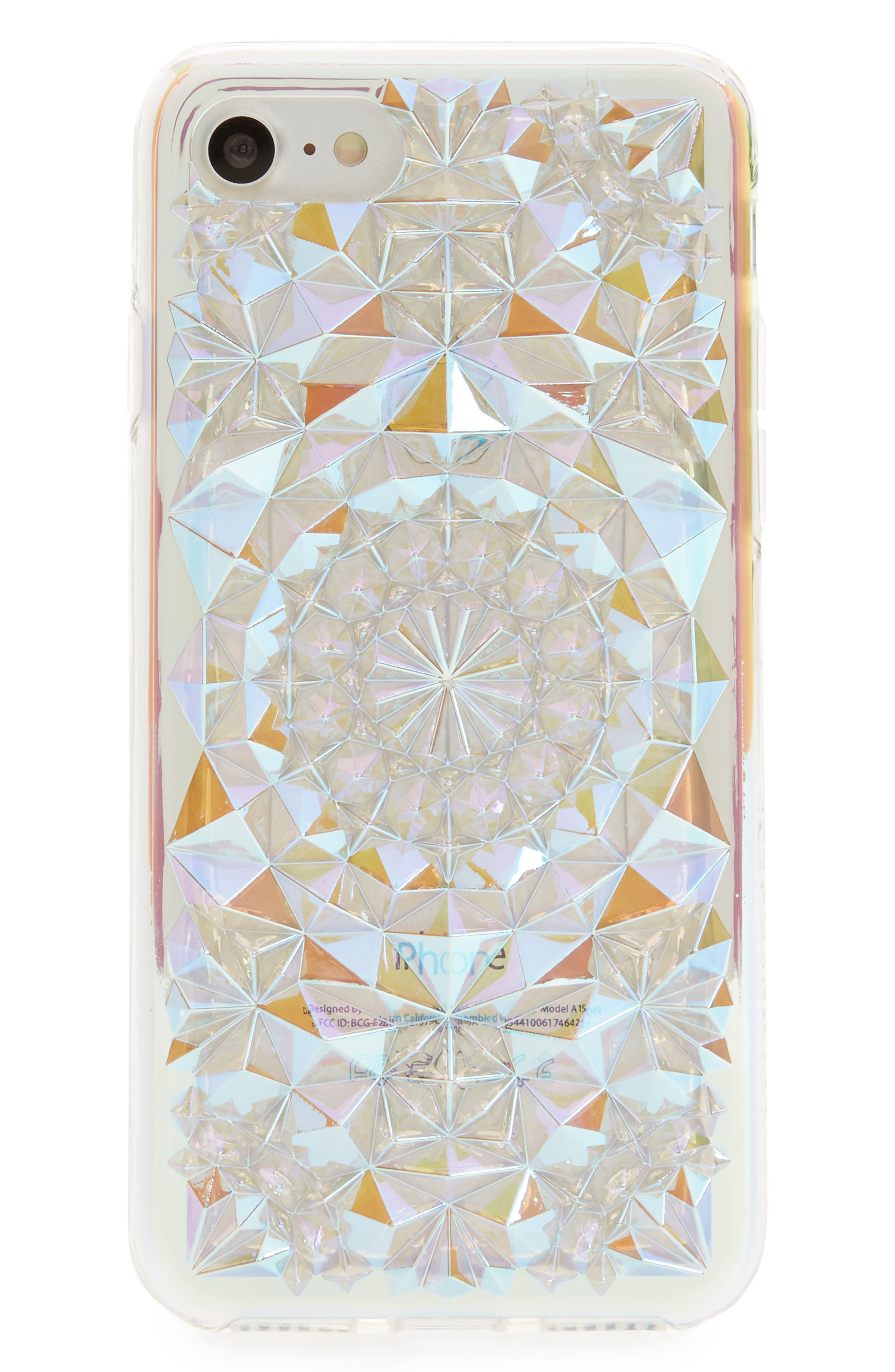Clear Cosmic Kaleidoscope iPhone 7/8 & 7/8 Plus Case,                             Main thumbnail 1, color,                             Ivory