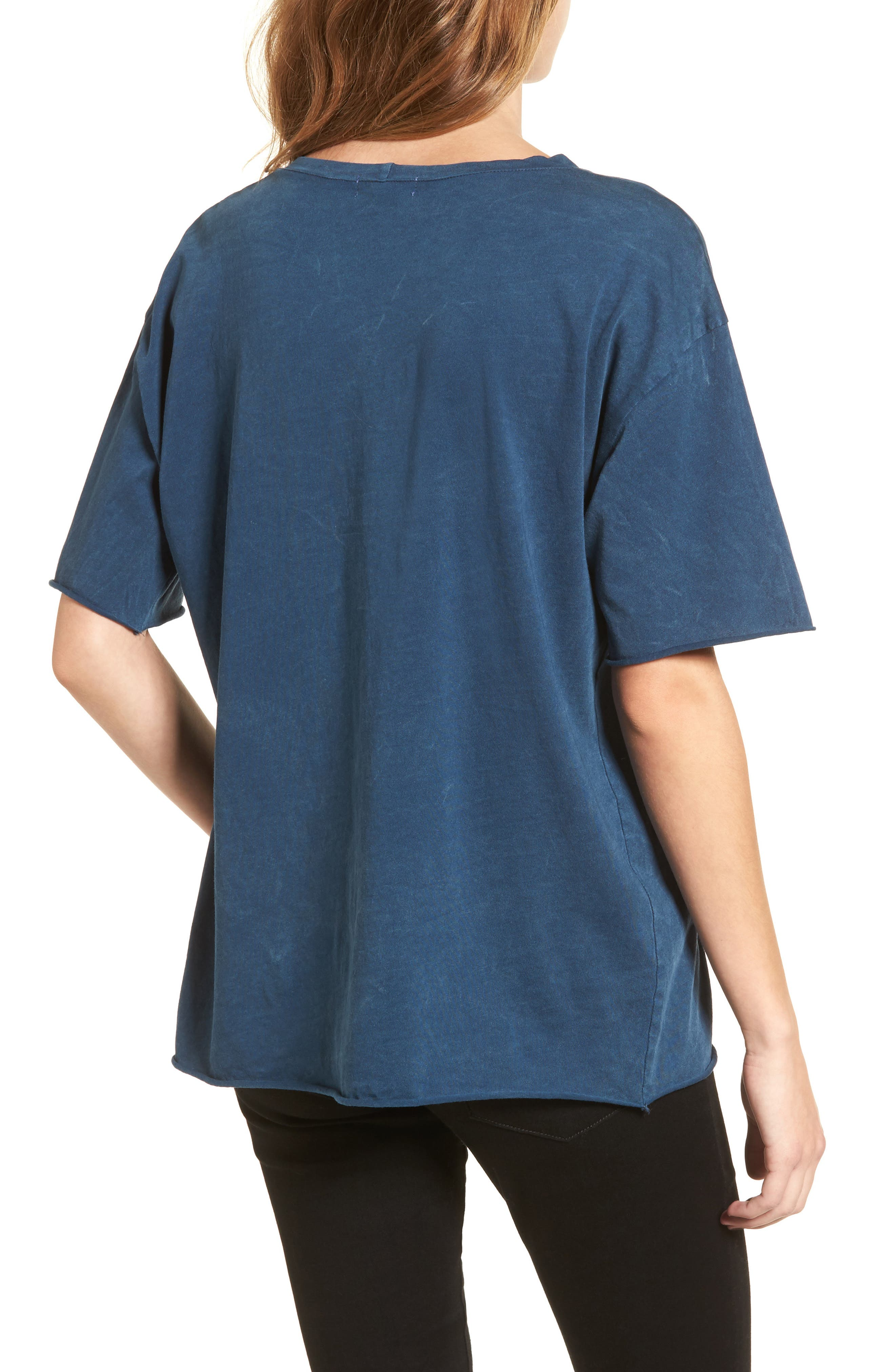 Front Cutout Tee,                             Alternate thumbnail 2, color,                             Teal
