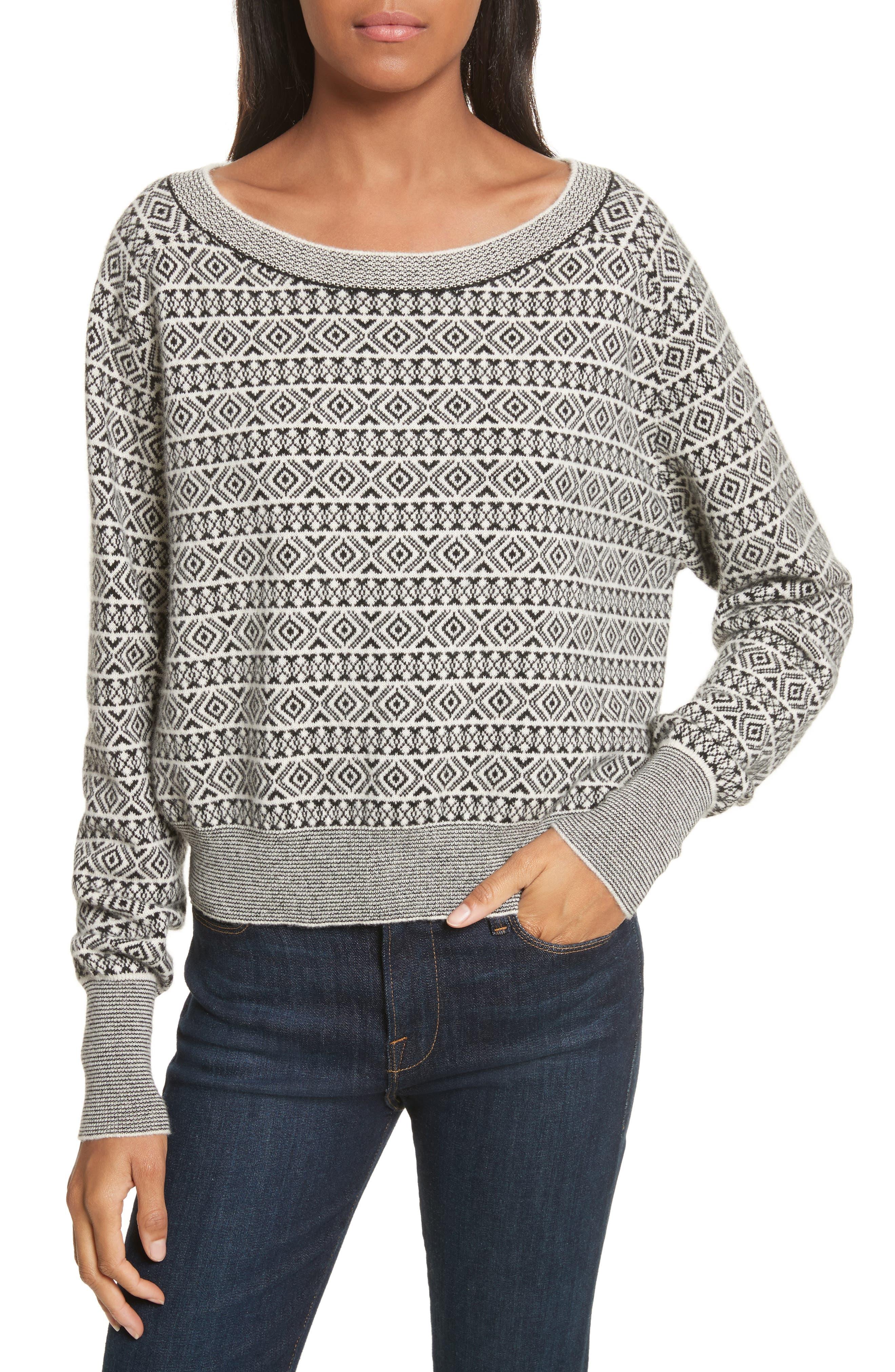 Theory Cashmere Jacquard Sweater