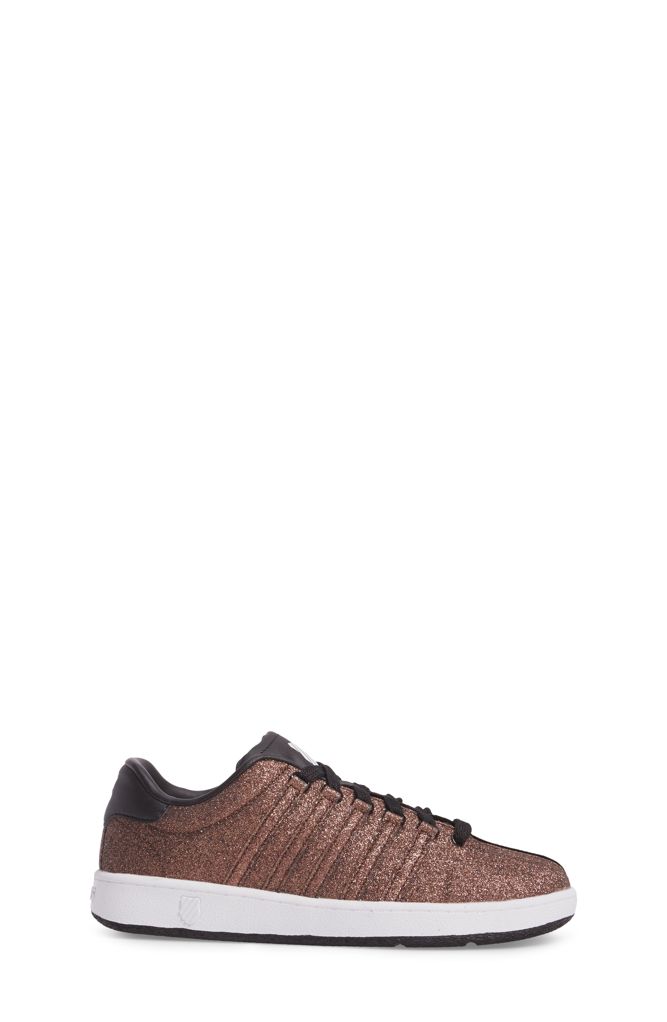 Alternate Image 3  - K-Swiss Classic VN Sparkle Low Top Sneaker (Baby, Walker, Toddler, Little Kid & Big Kid)