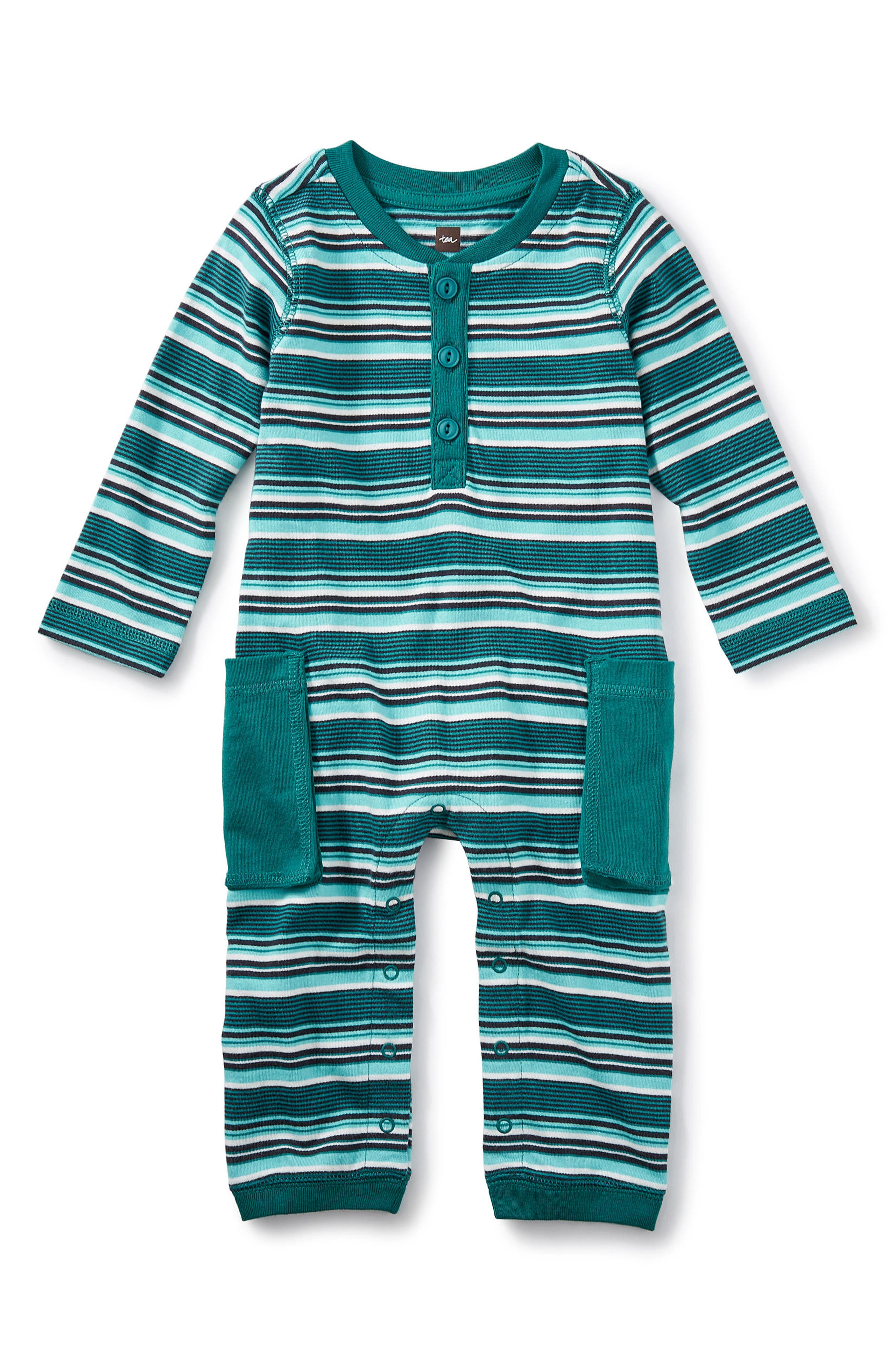 Tea Collection Ugie Cargo Romper (Baby Boys)