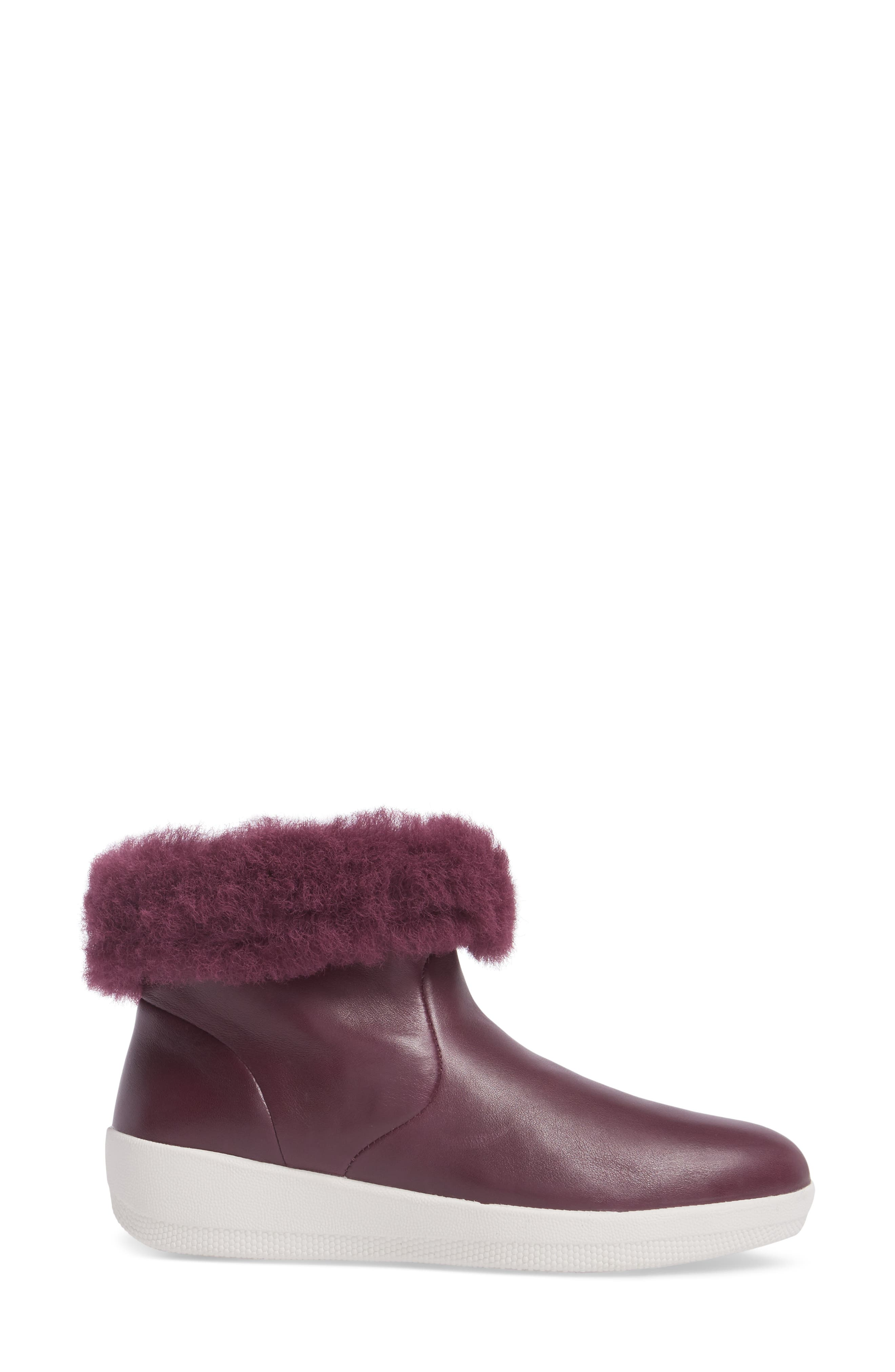Skatebootie<sup>™</sup> with Genuine Shearling Cuff,                             Alternate thumbnail 3, color,                             Deep Plum