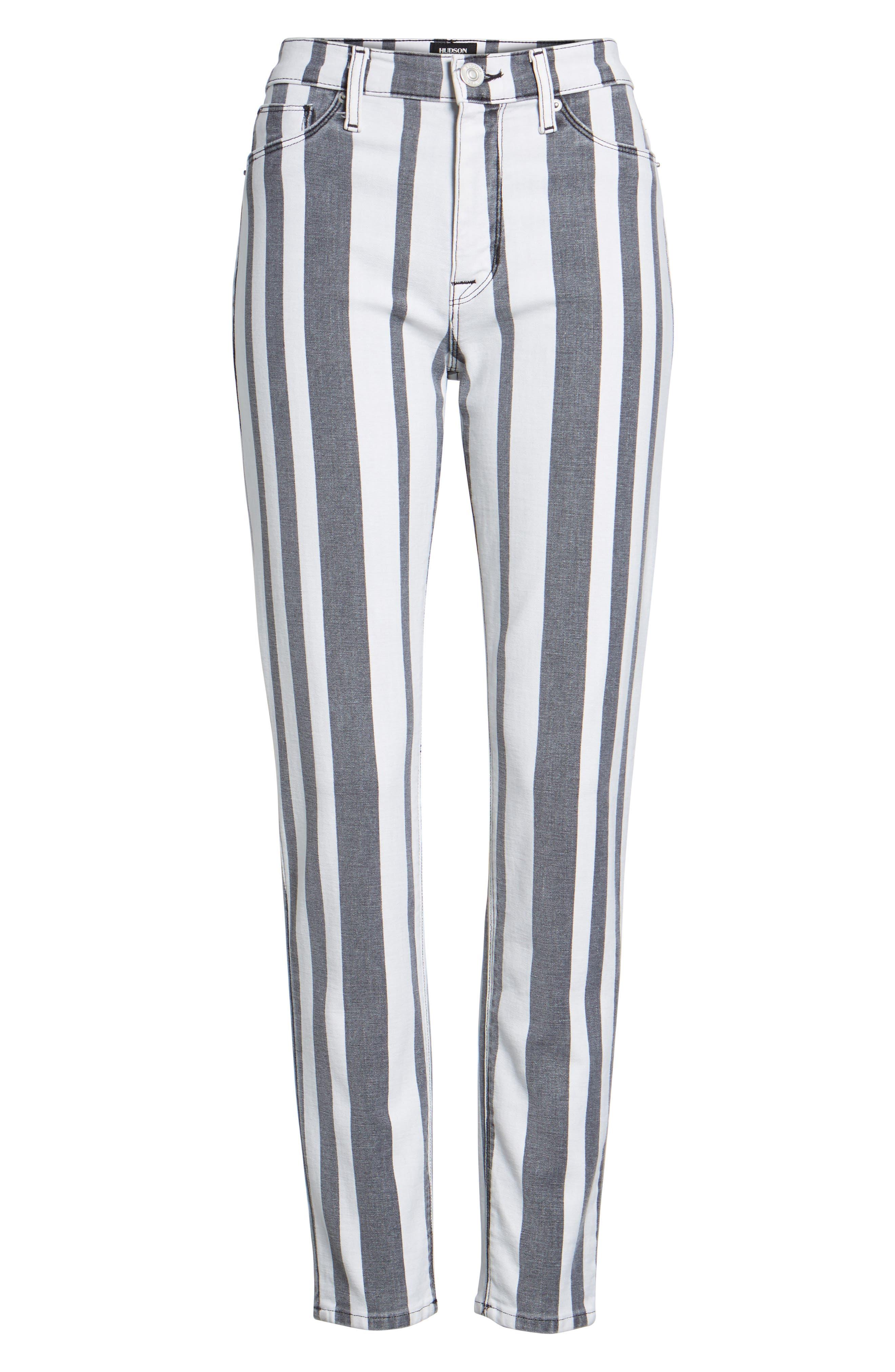 Barbara High Waist Ankle Super Skinny Jeans,                             Alternate thumbnail 6, color,                             Undertaking