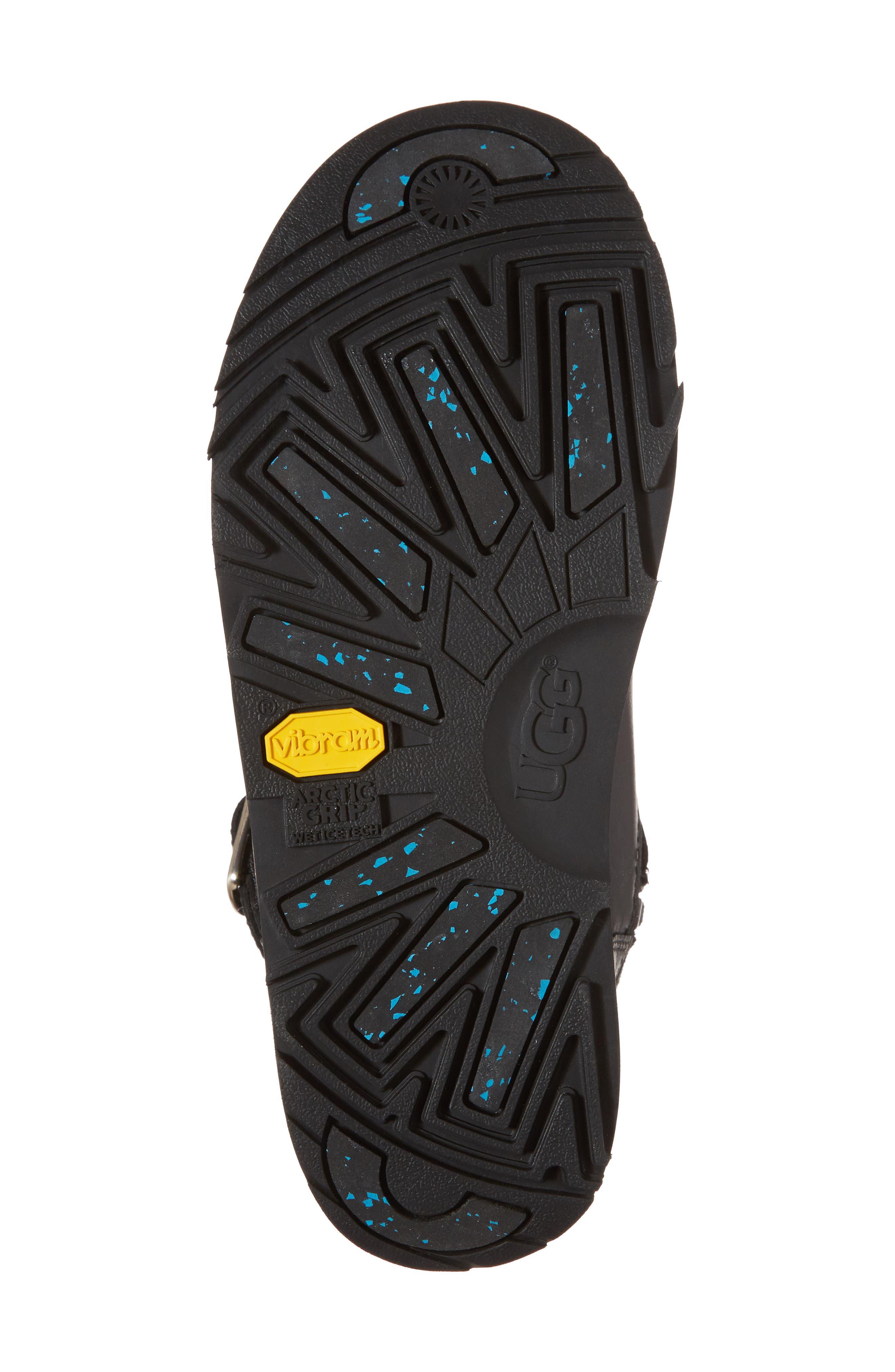 Breida Waterproof Boot,                             Alternate thumbnail 6, color,                             Black Leather
