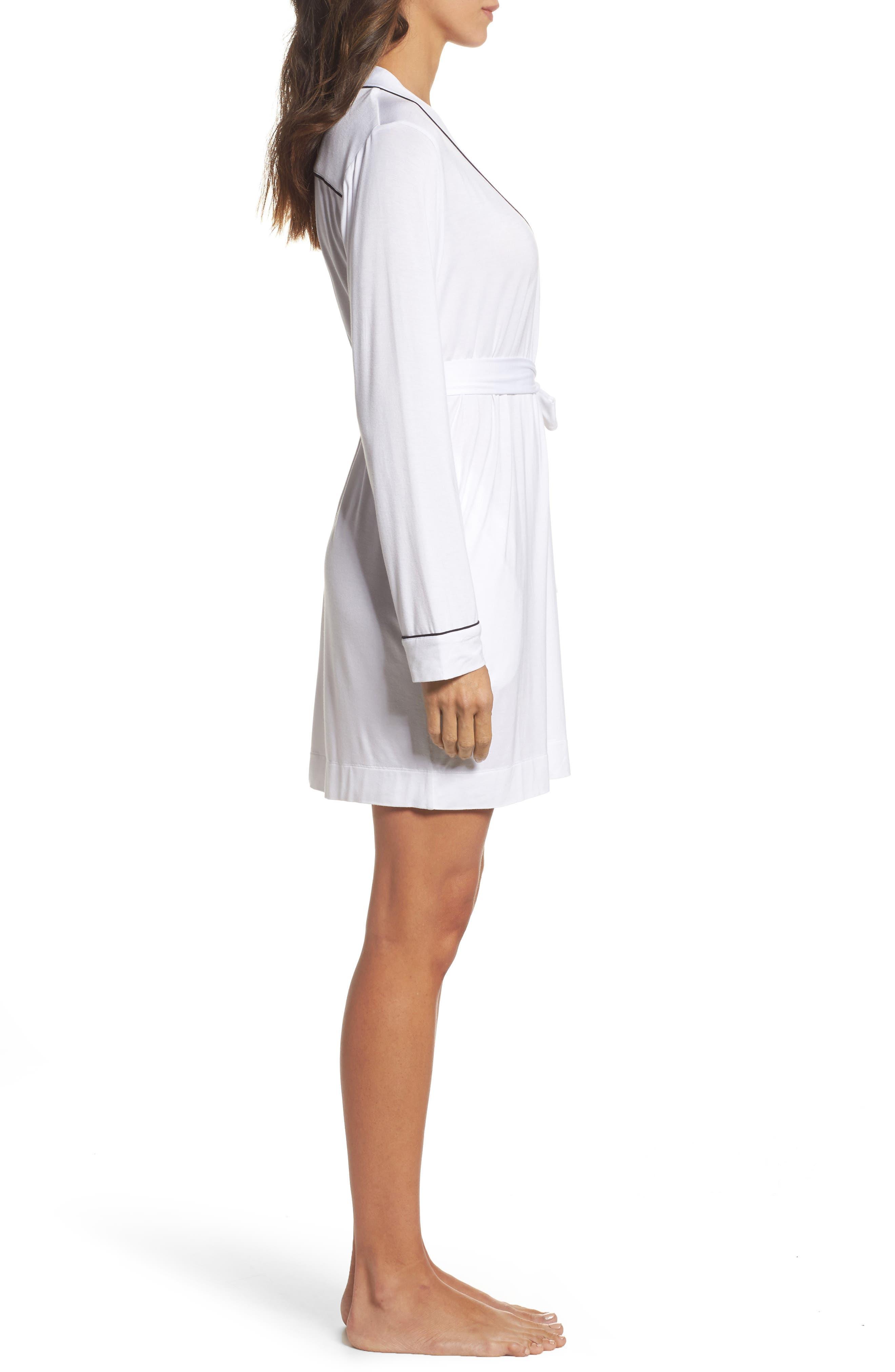 Aldridge Short Robe,                             Alternate thumbnail 3, color,                             Cream
