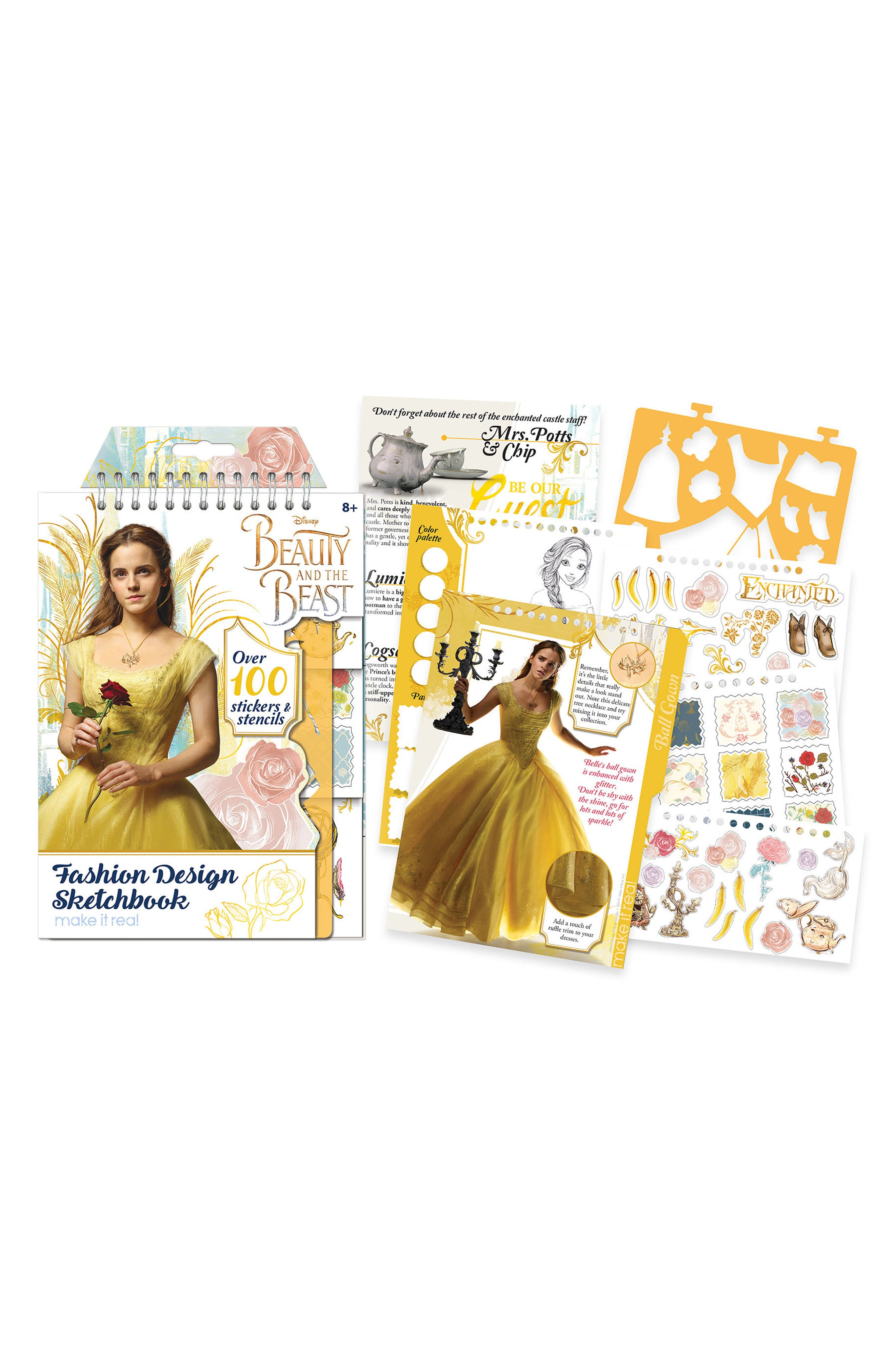 Disney Beauty and the Beast Sketchbook,                         Main,                         color, Multi