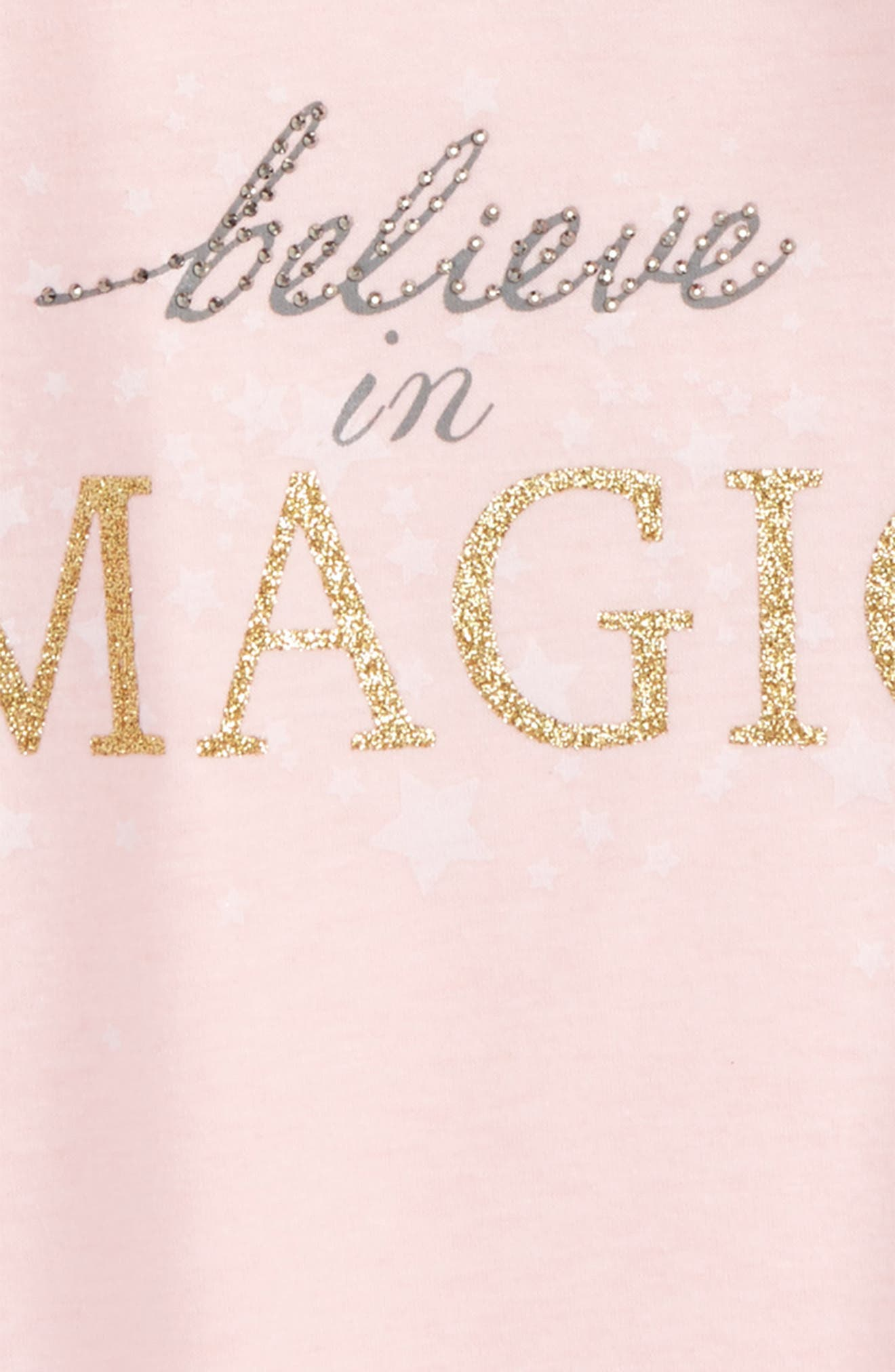 Believe In Magic Graphic Tee,                             Alternate thumbnail 2, color,                             White