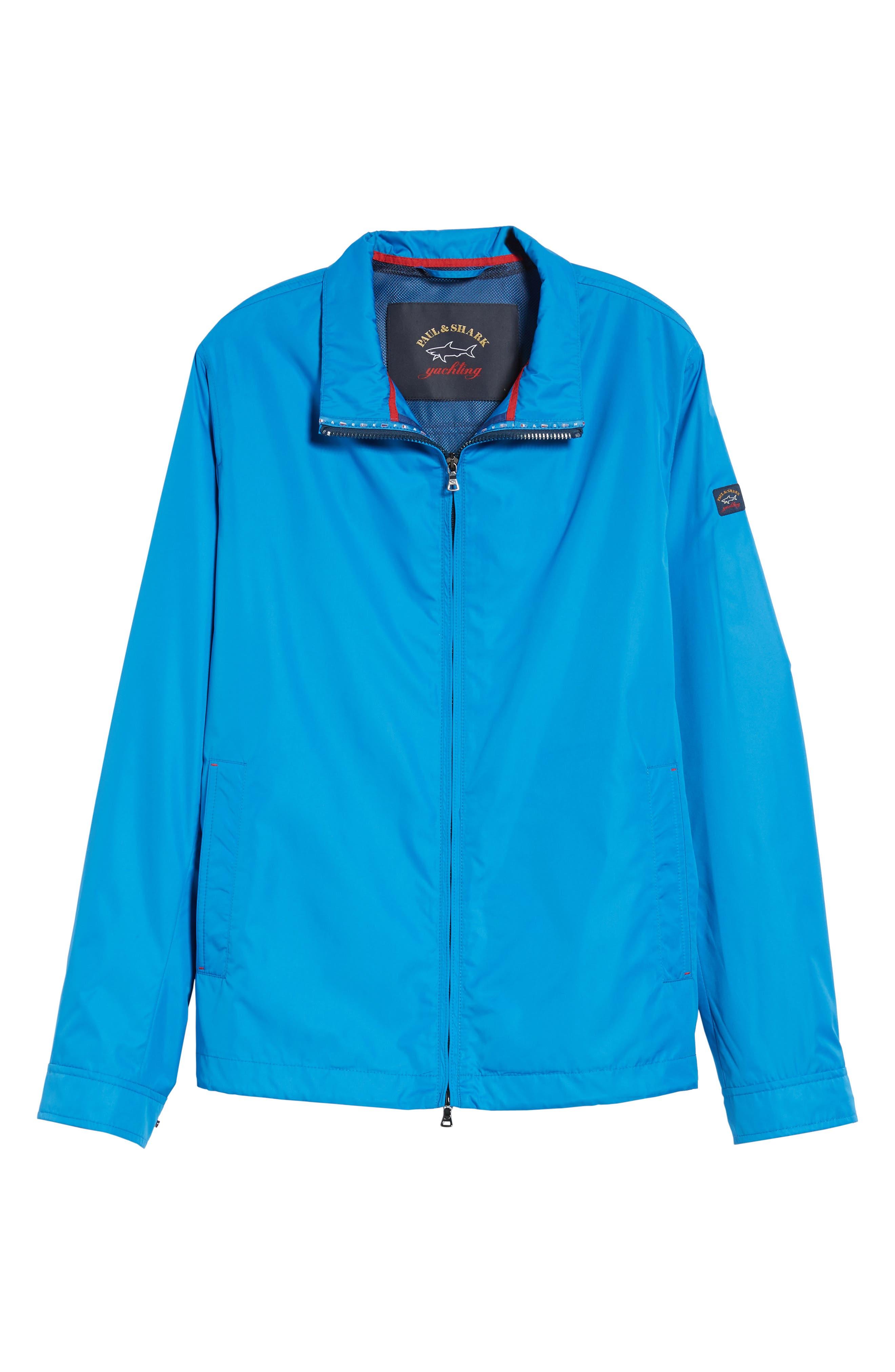 Paul&Shark Water Repellent Jacket,                             Alternate thumbnail 6, color,                             Cobalt