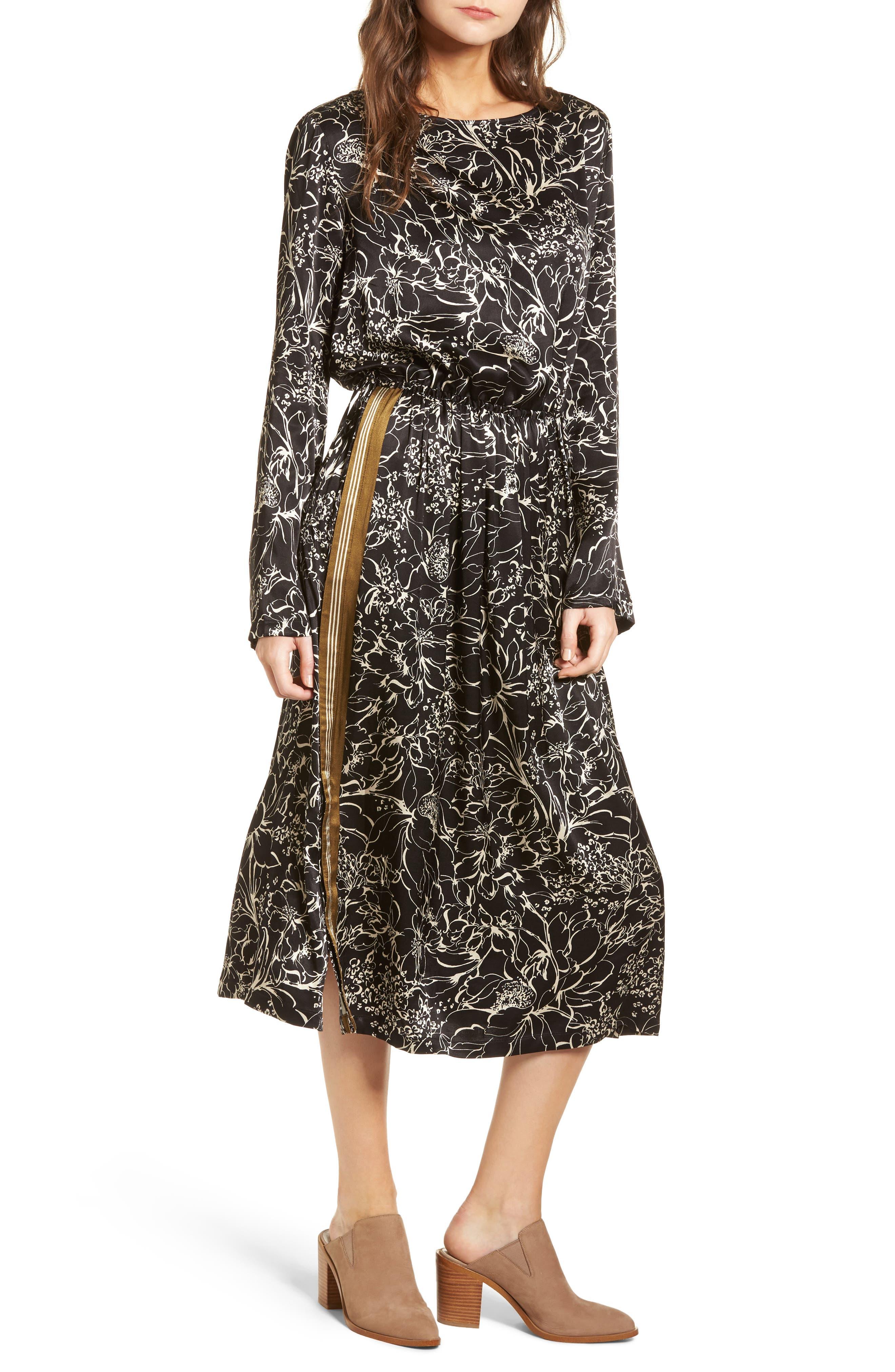 Treasure & Bond Blouson Print Dress