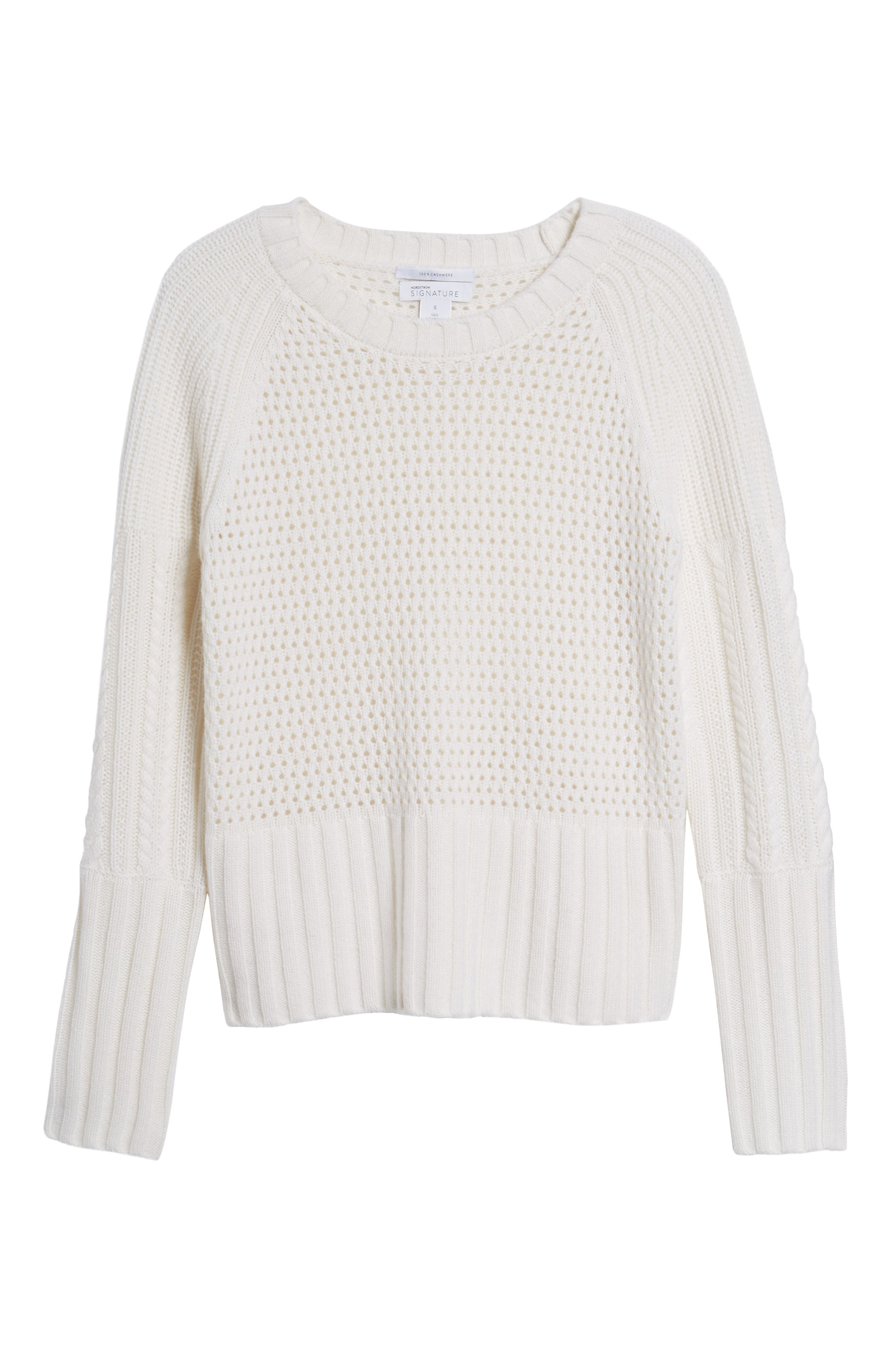 Alternate Image 6  - Nordstrom Signature Mixed Stitch Cashmere Sweater