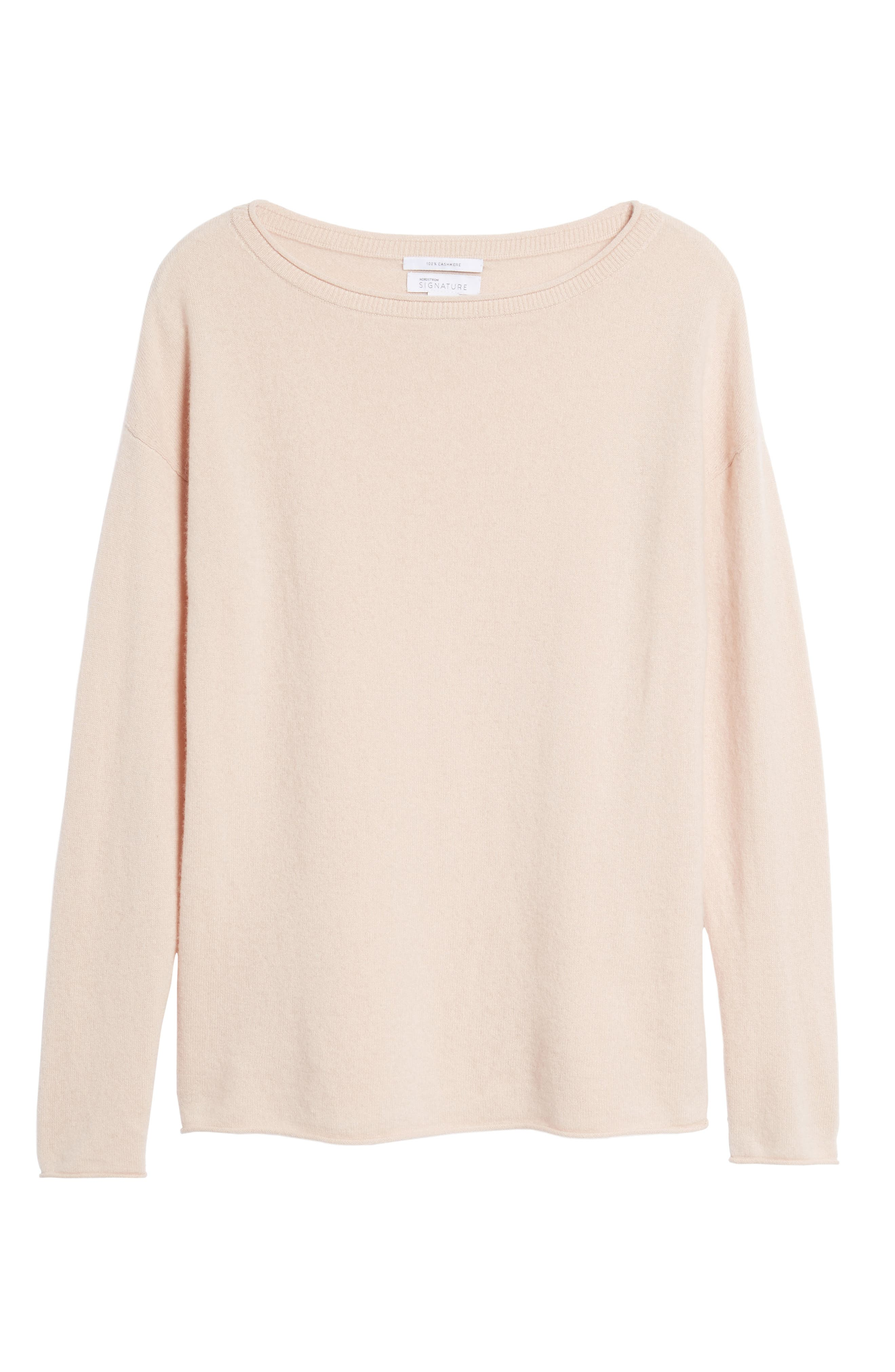 Boiled Cashmere Sweater,                             Alternate thumbnail 6, color,                             Pink Peach