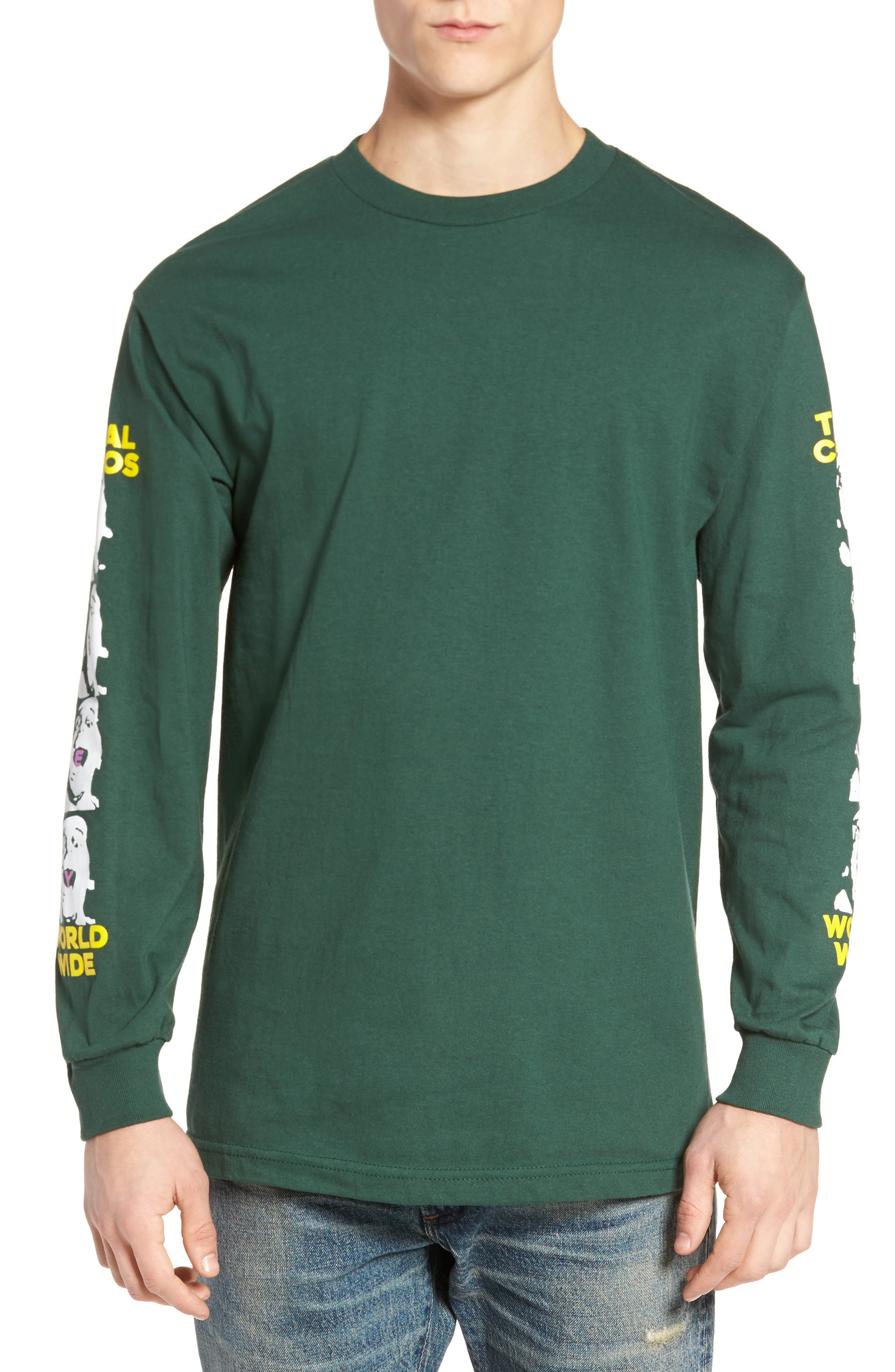 Total Chaos T-Shirt,                             Main thumbnail 1, color,                             Forrest Green