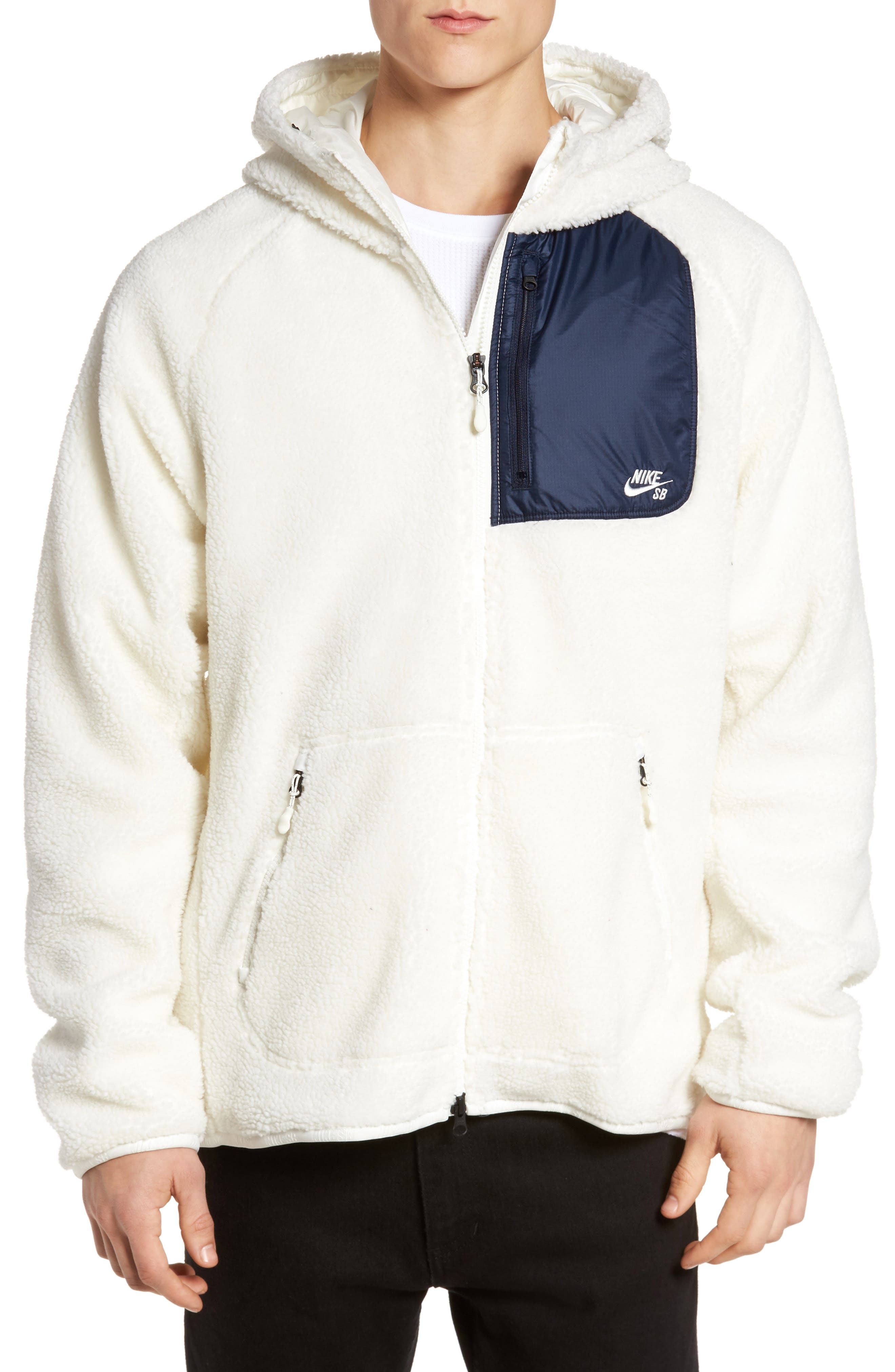 Everett Hoodie,                         Main,                         color, Sail/ Obsidian/ Sail