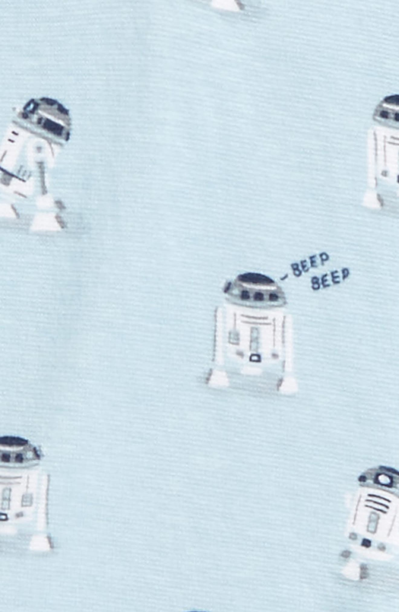 Star Wars<sup>™</sup> - R2-D2 Fitted Two-Piece Pajamas,                             Alternate thumbnail 2, color,                             Light Grey R2d2
