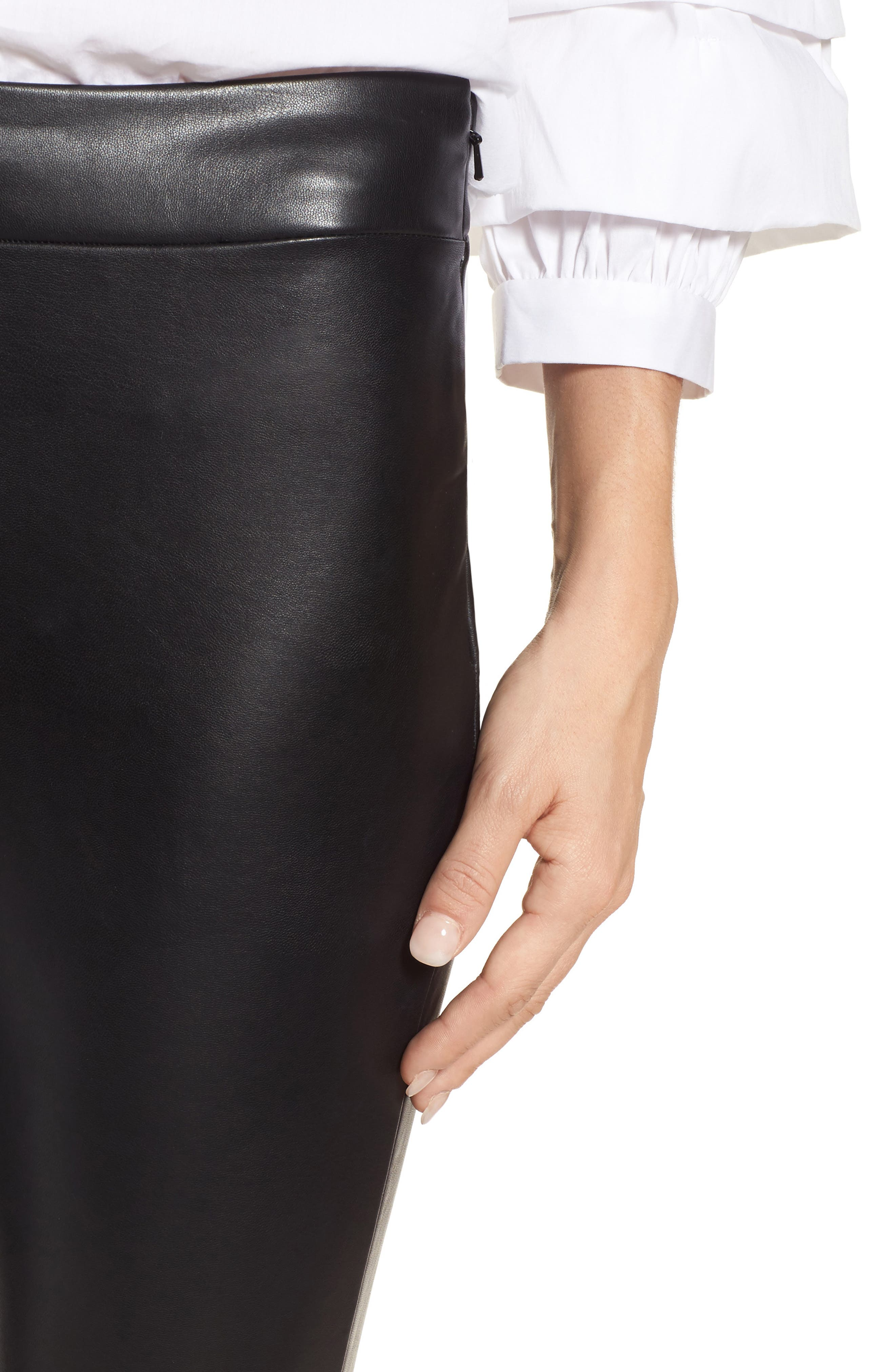 Alternate Image 4  - Leith High Waist Faux Leather Leggings