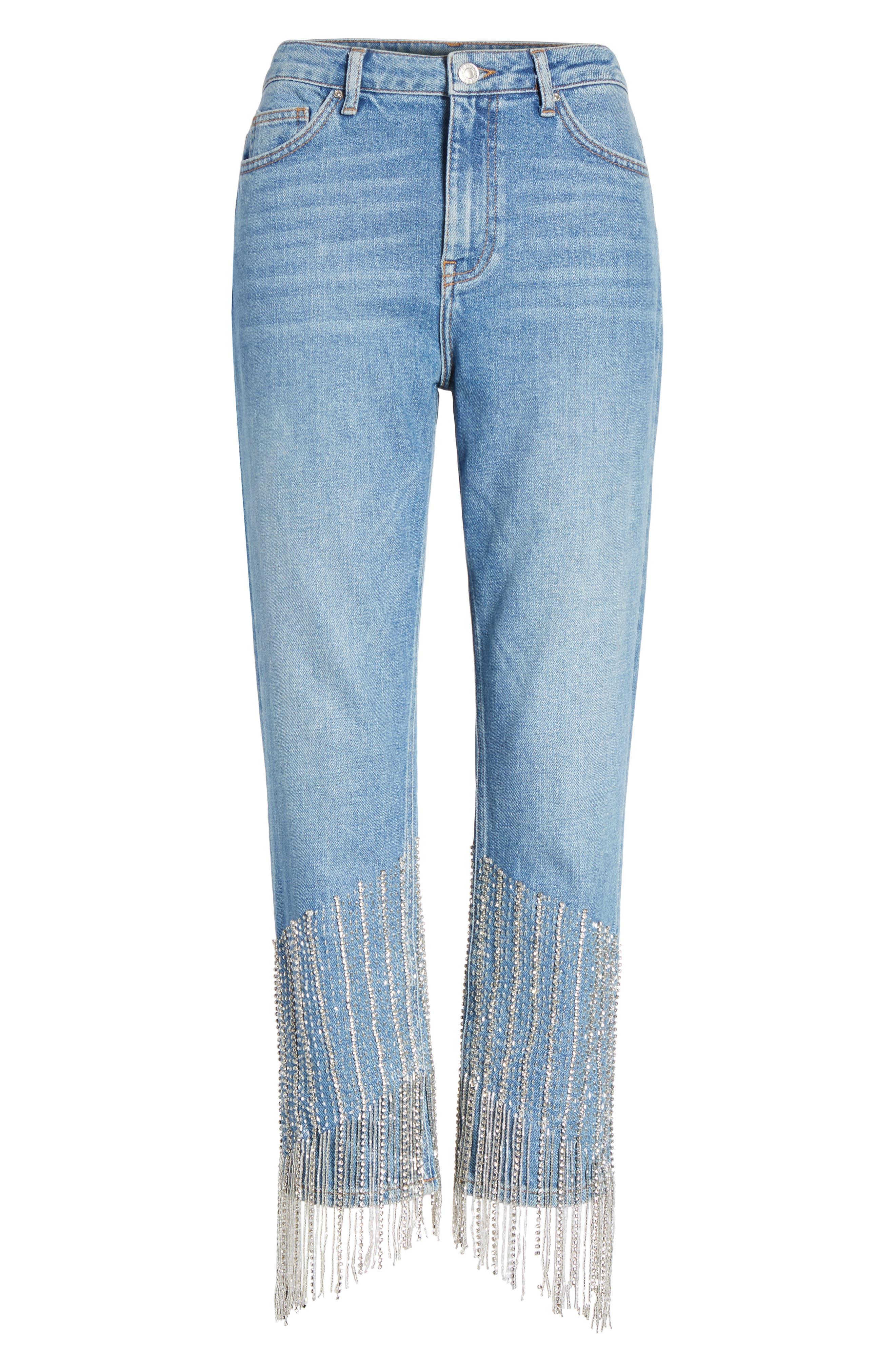 Alternate Image 5  - Topshop Crystal Embellished Moto Jeans