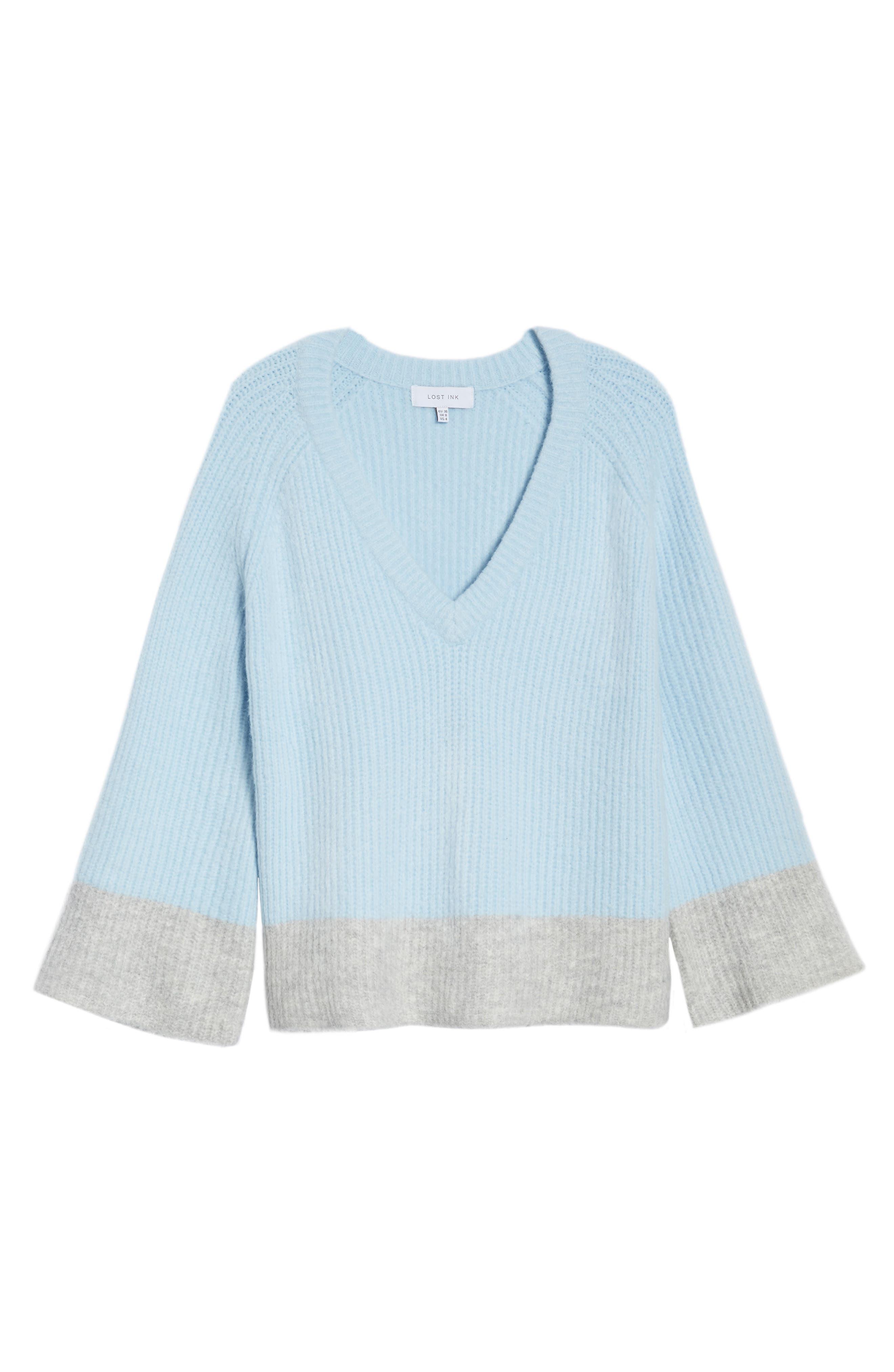Alternate Image 7  - LOST INK Oversize V-Neck Sweater