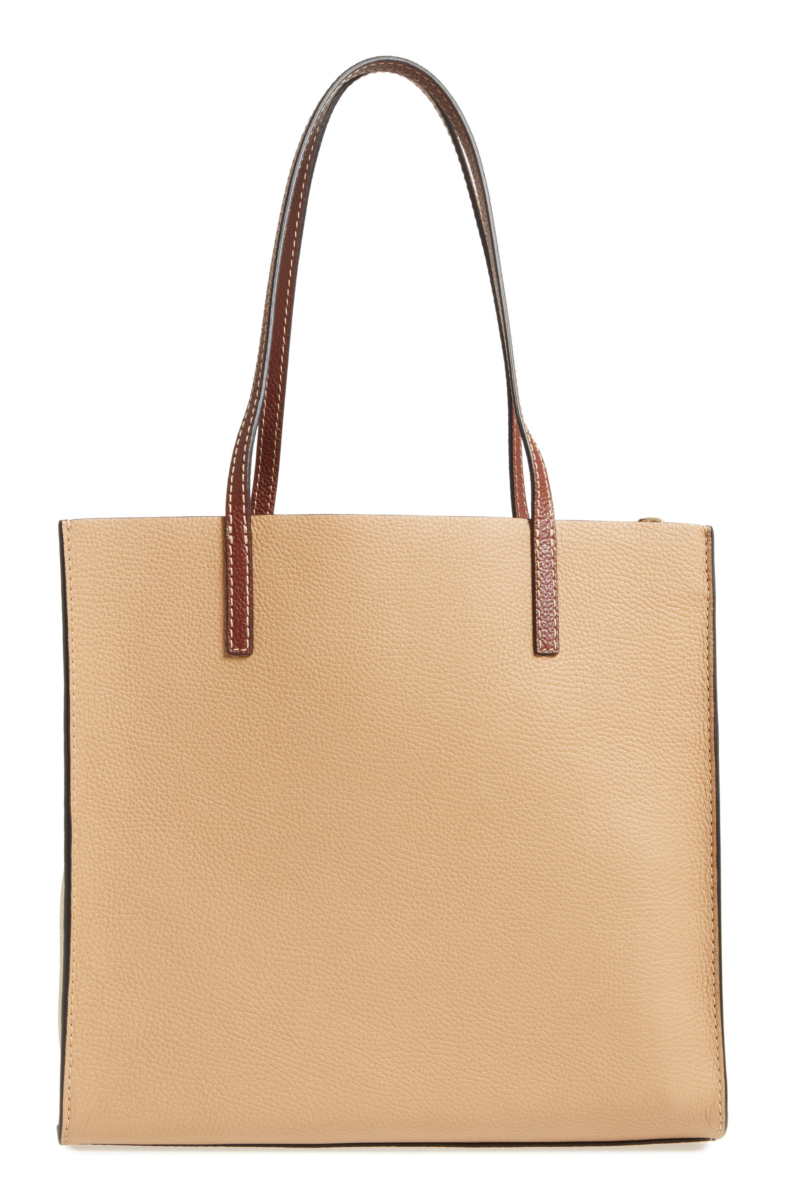 The Grind Colorblock Leather Tote,                             Alternate thumbnail 3, color,                             Natural Multi
