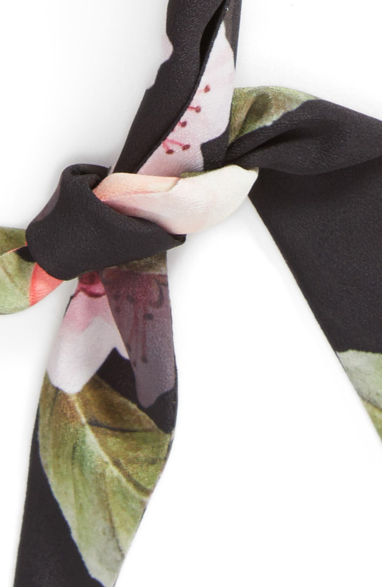 Alternate Image 4  - Ted Baker London Peach Blossom Skinny Scarf